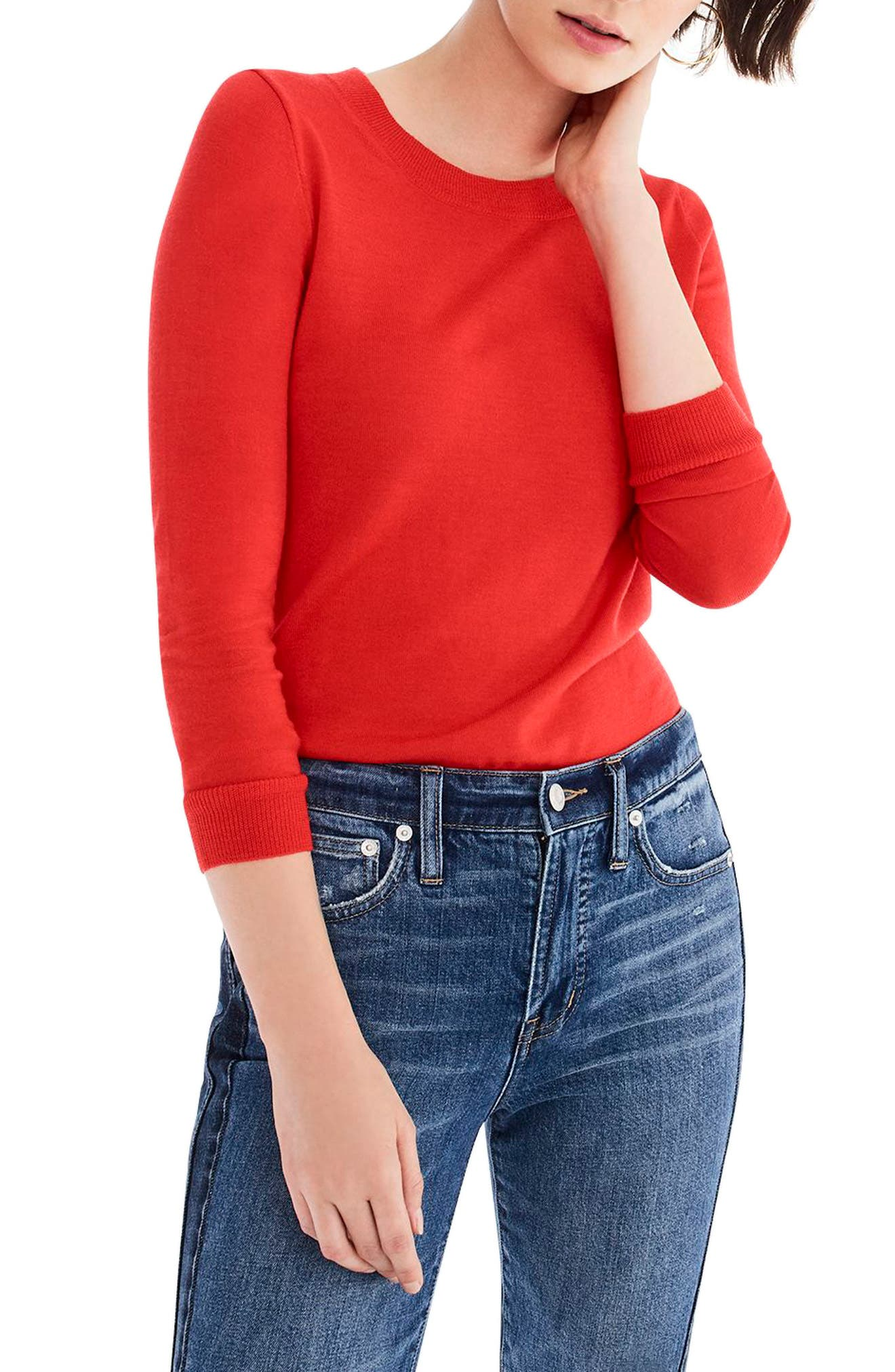 J.crew Tippi Merino Wool Sweater, Red