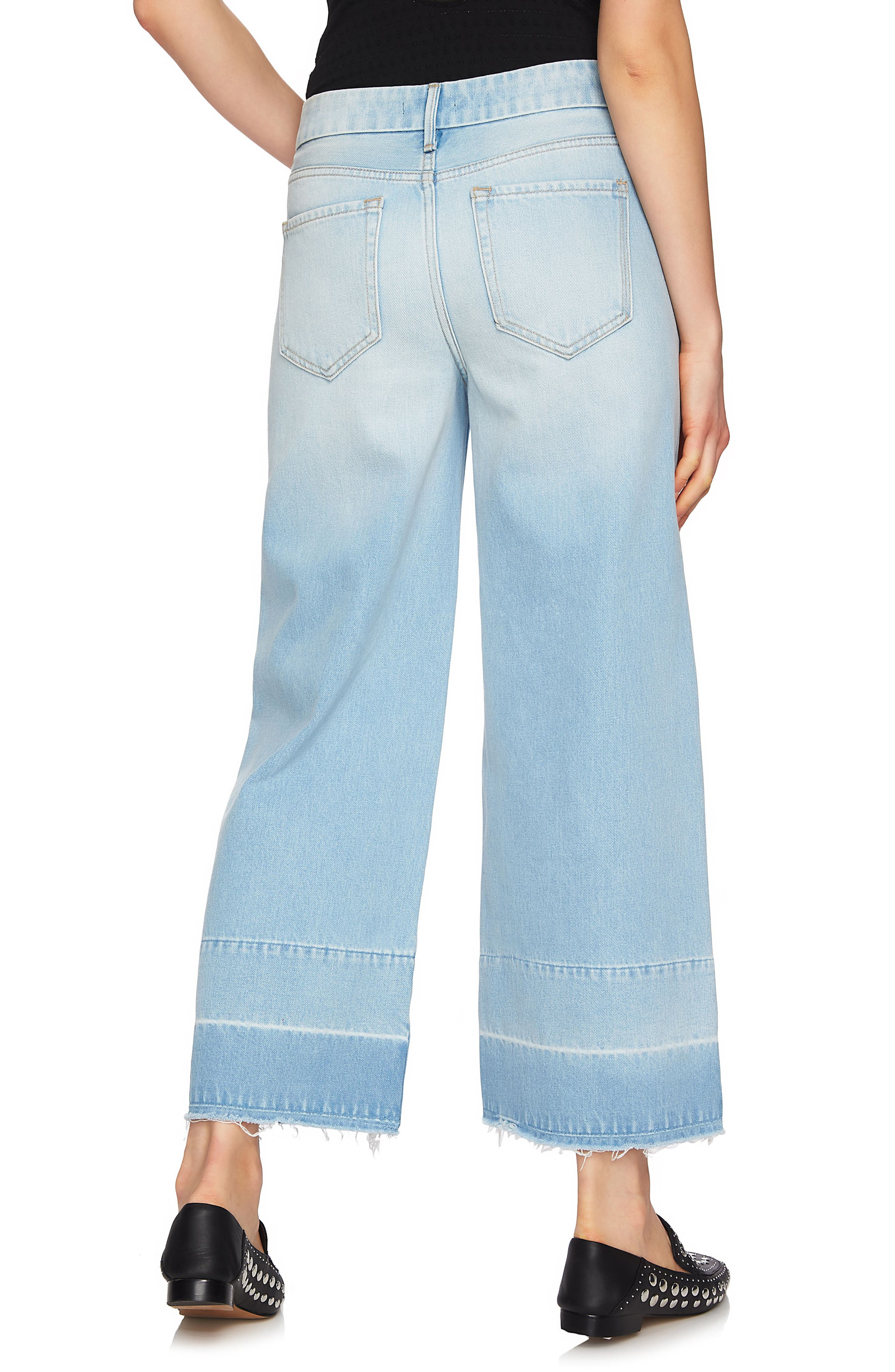 Released Hem Wide Leg Jeans,                             Alternate thumbnail 2, color,                             434
