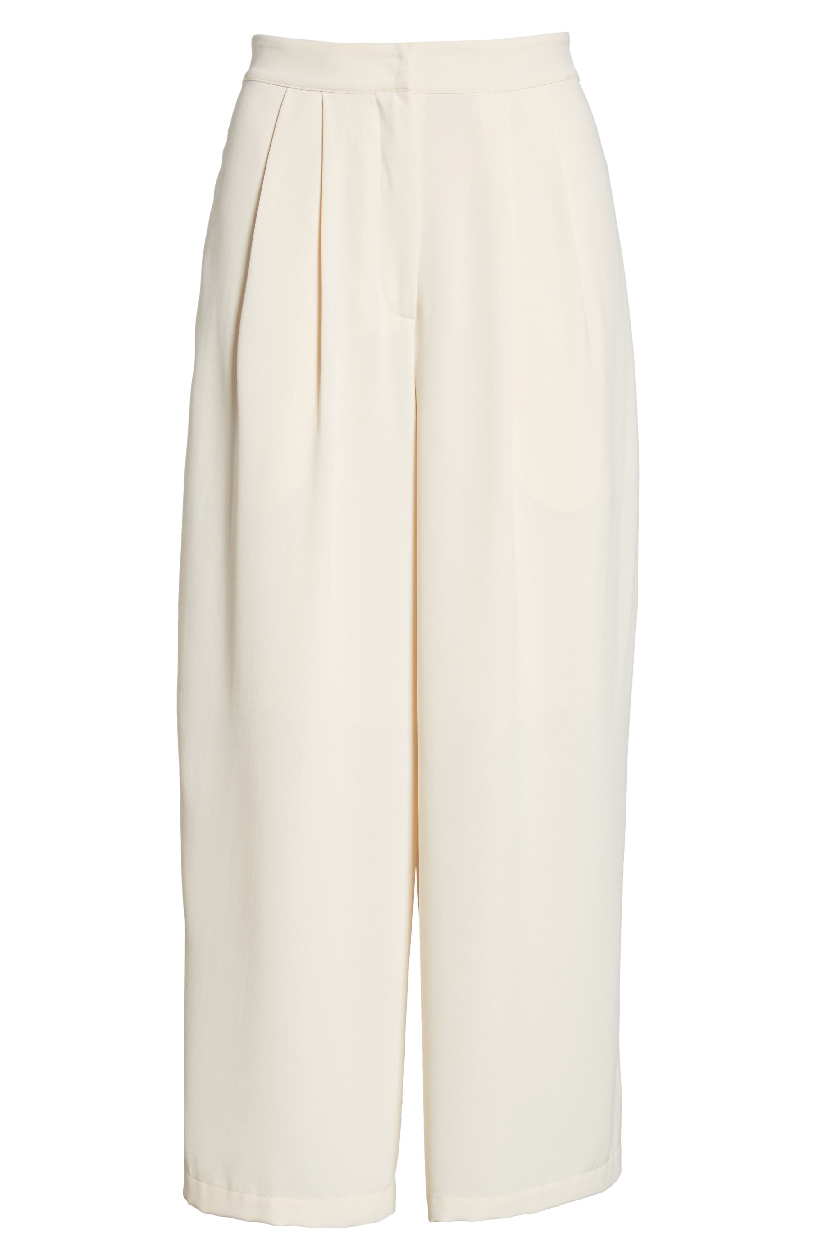 Chriselle x J.O.A. Pleat High Waist Crop Wide Leg Pants,                             Alternate thumbnail 6, color,                             650