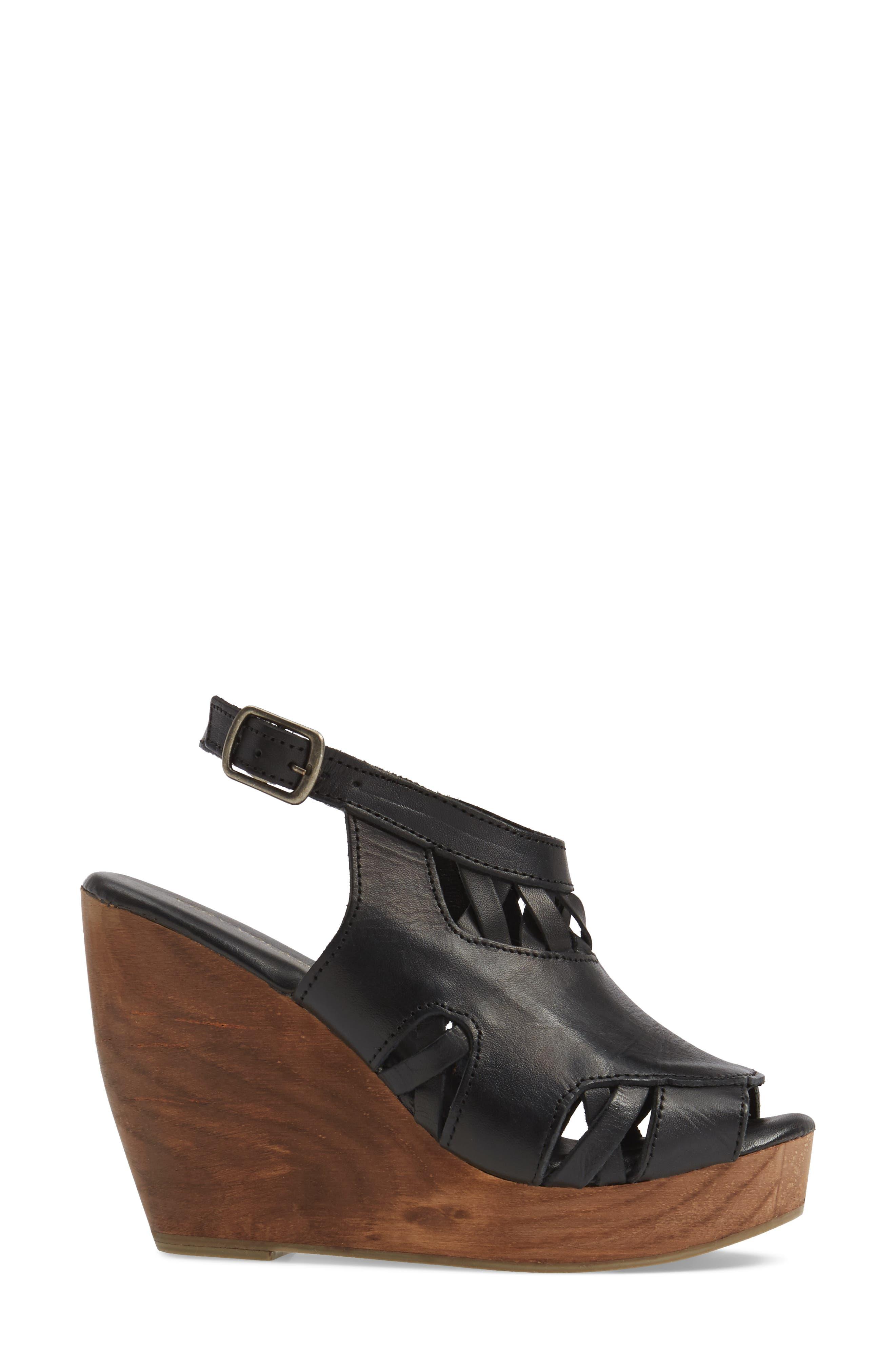 Sloane Platform Wedge Sandal,                             Alternate thumbnail 5, color,