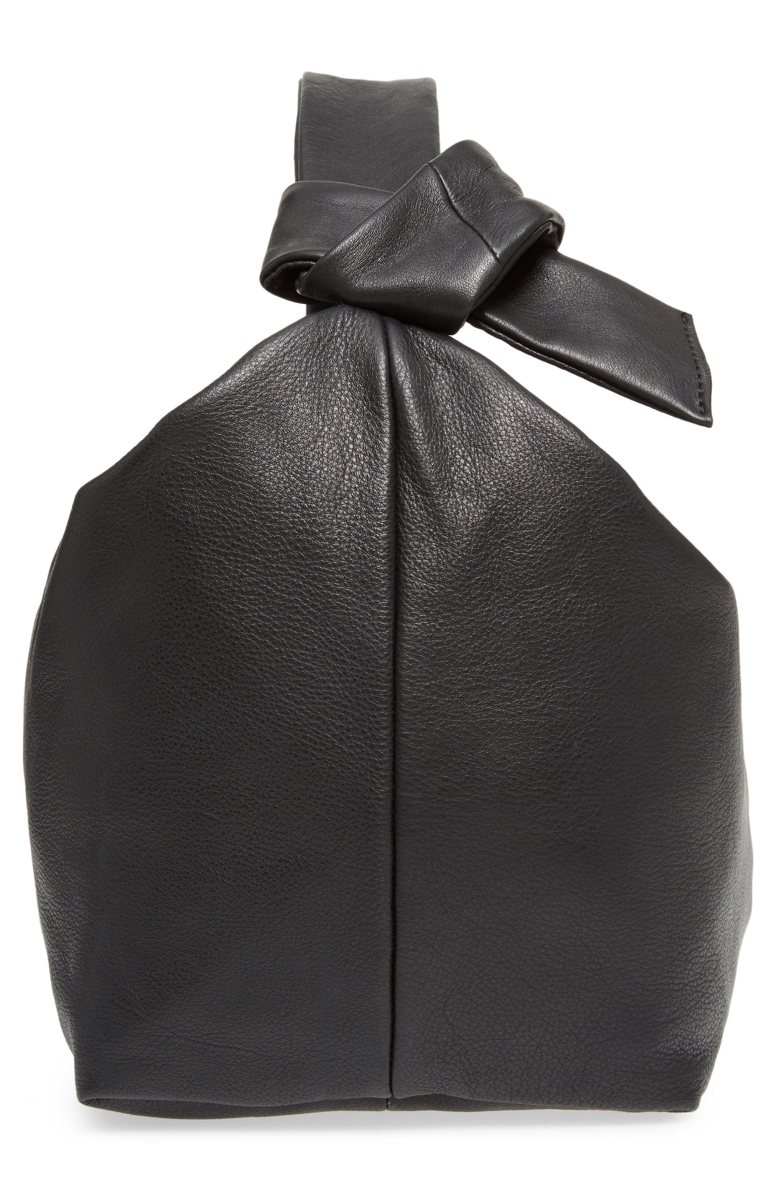 Premium Leather Jasmine Hobo Bag,                             Alternate thumbnail 5, color,                             001