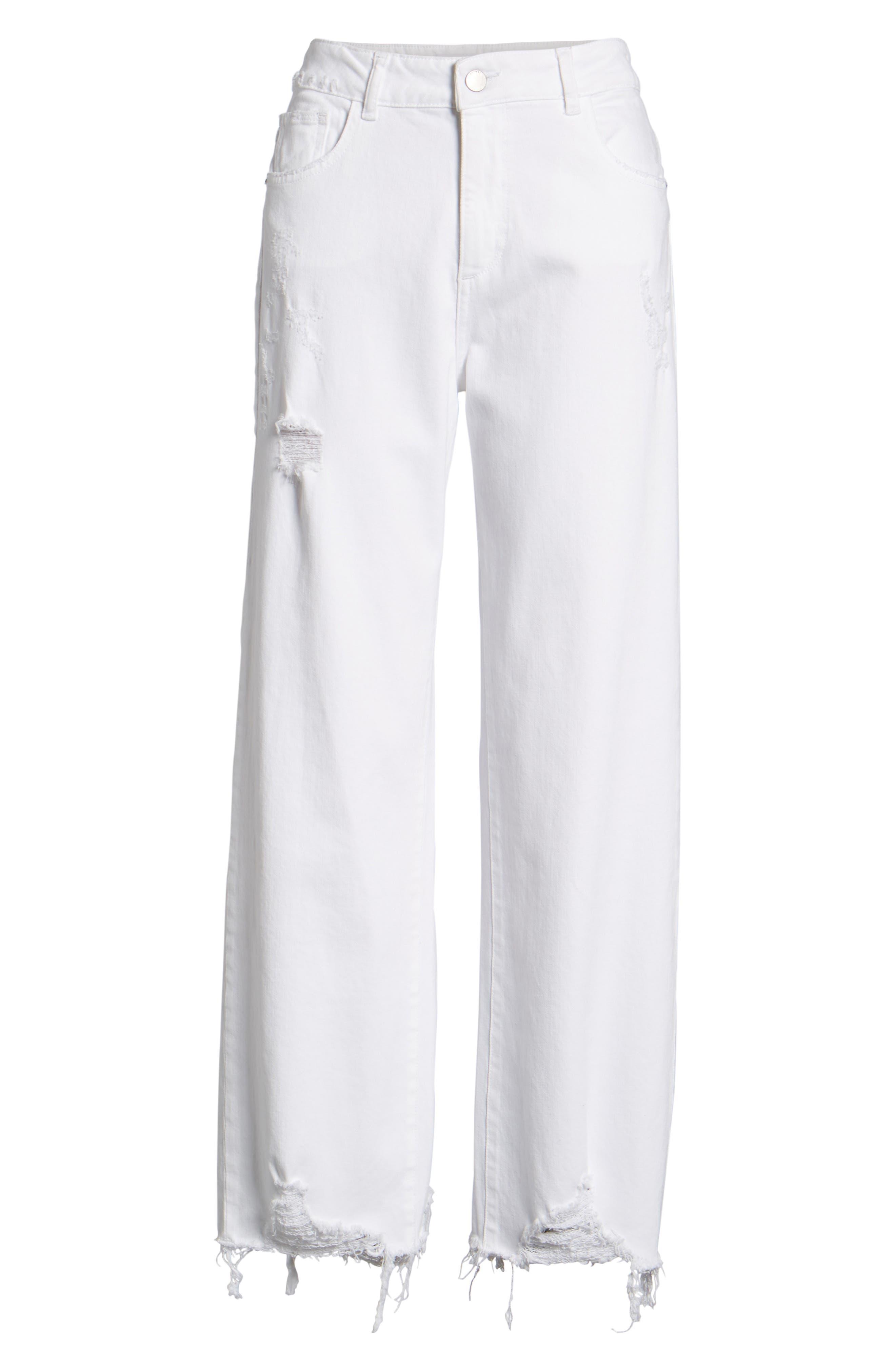 Hepburn High Waist Wide Leg Jeans,                             Alternate thumbnail 7, color,                             100