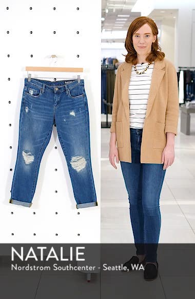 Ludlow Ripped Crop Girlfriend Jeans, sales video thumbnail