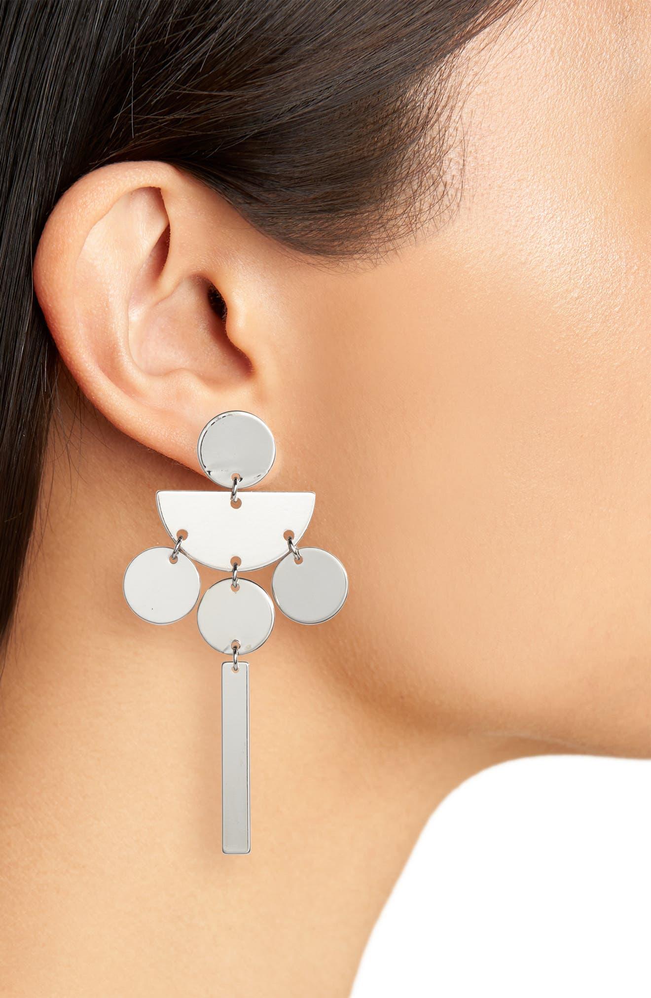 TASHA,                             Geometric Drop Earrings,                             Alternate thumbnail 2, color,                             040