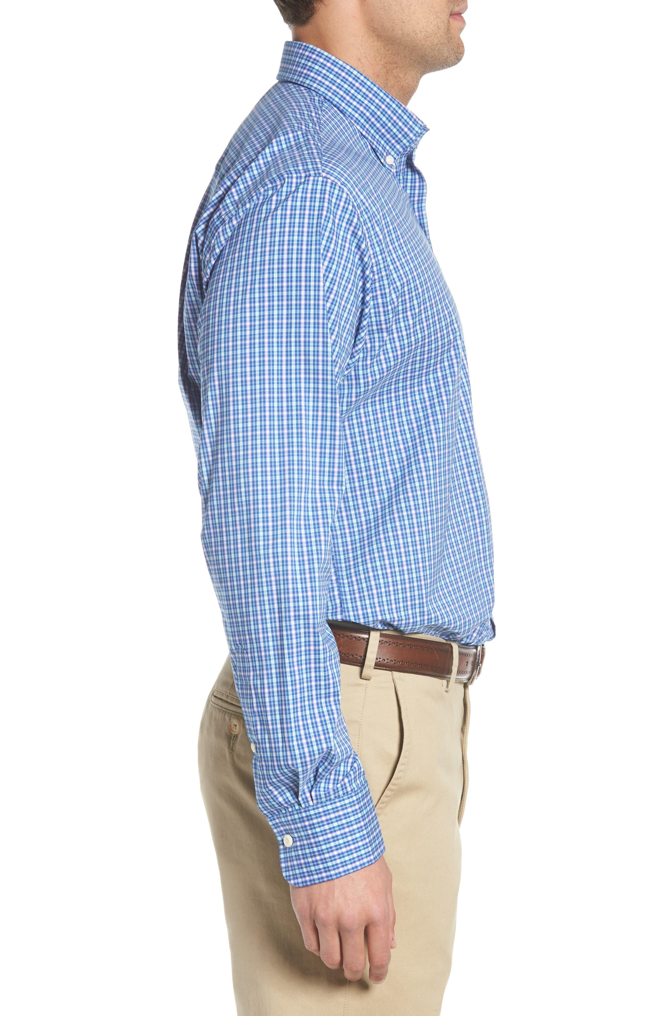 Crown Comfort Finch Multicheck Sport Shirt,                             Alternate thumbnail 3, color,                             422