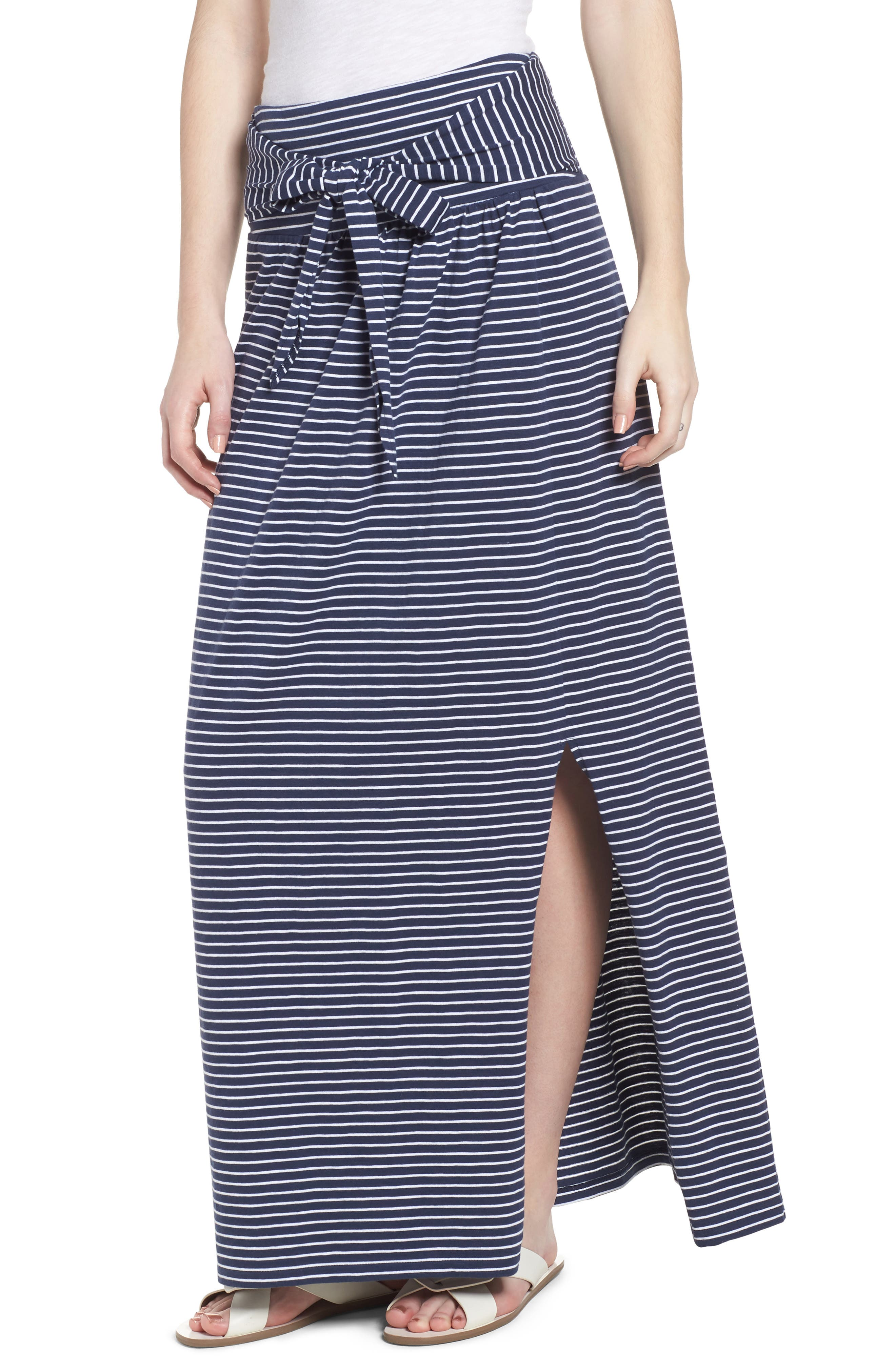 Tie Front Cotton Maxi Skirt,                             Main thumbnail 3, color,