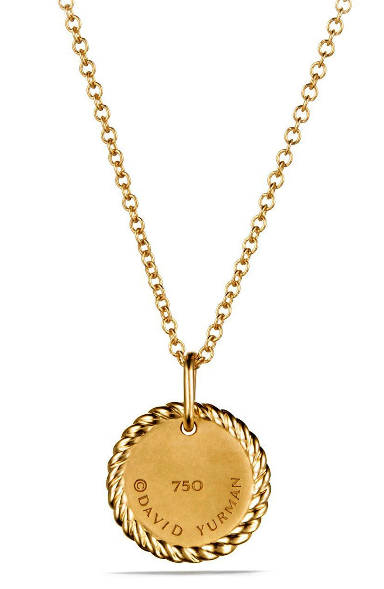 'Cable Collectibles' Pavé Charm with Diamonds in Gold,                             Alternate thumbnail 5, color,                             GOLD