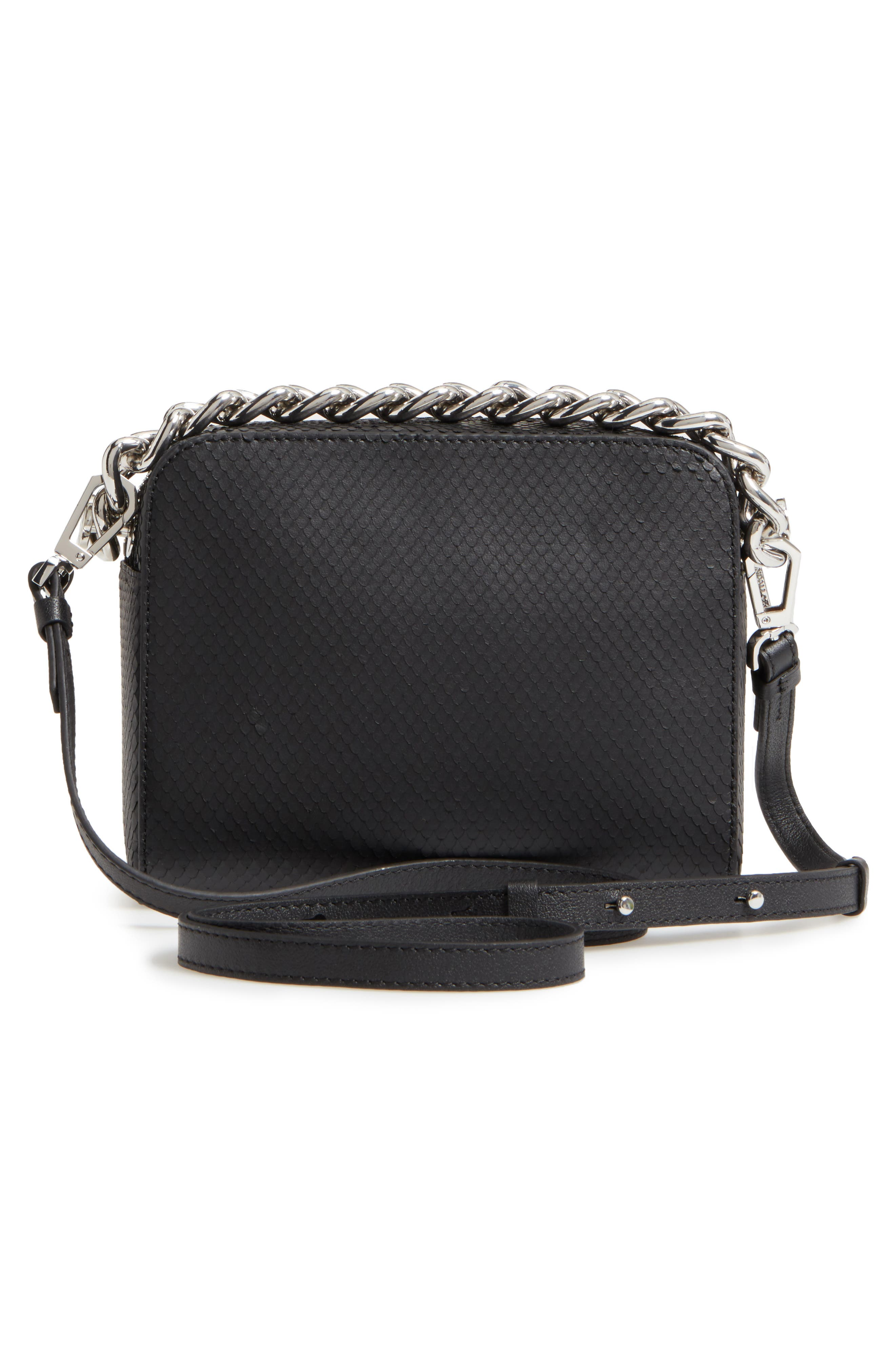 Lucy Leather Crossbody Bag,                             Alternate thumbnail 3, color,                             001