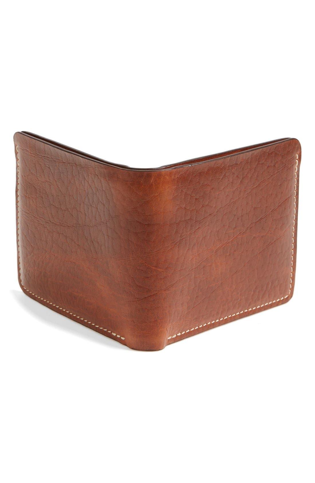 'Jackson' Bison Leather Wallet,                             Alternate thumbnail 3, color,                             700