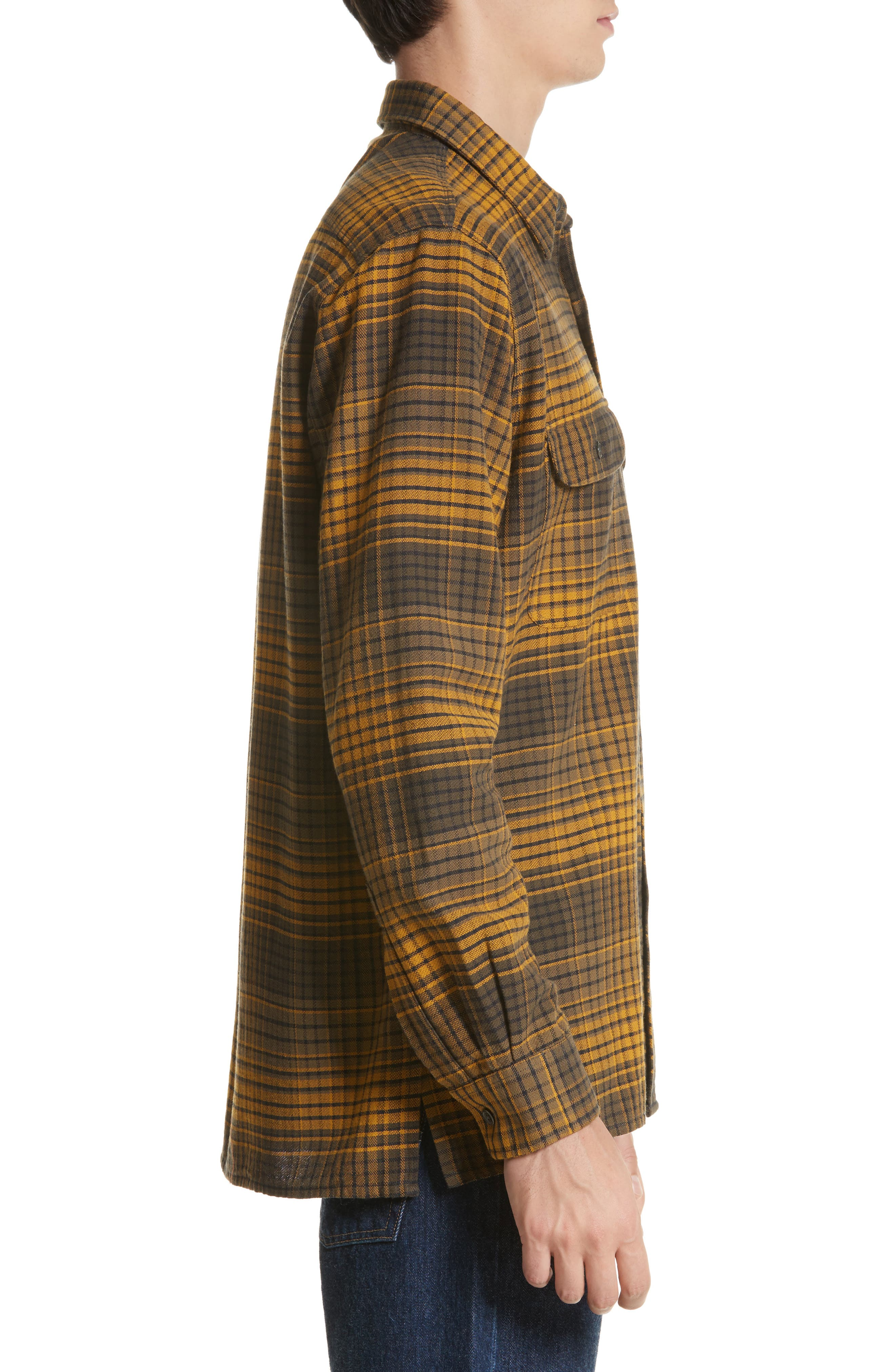 Country Plaid Flannel Shirt,                             Alternate thumbnail 3, color,                             710