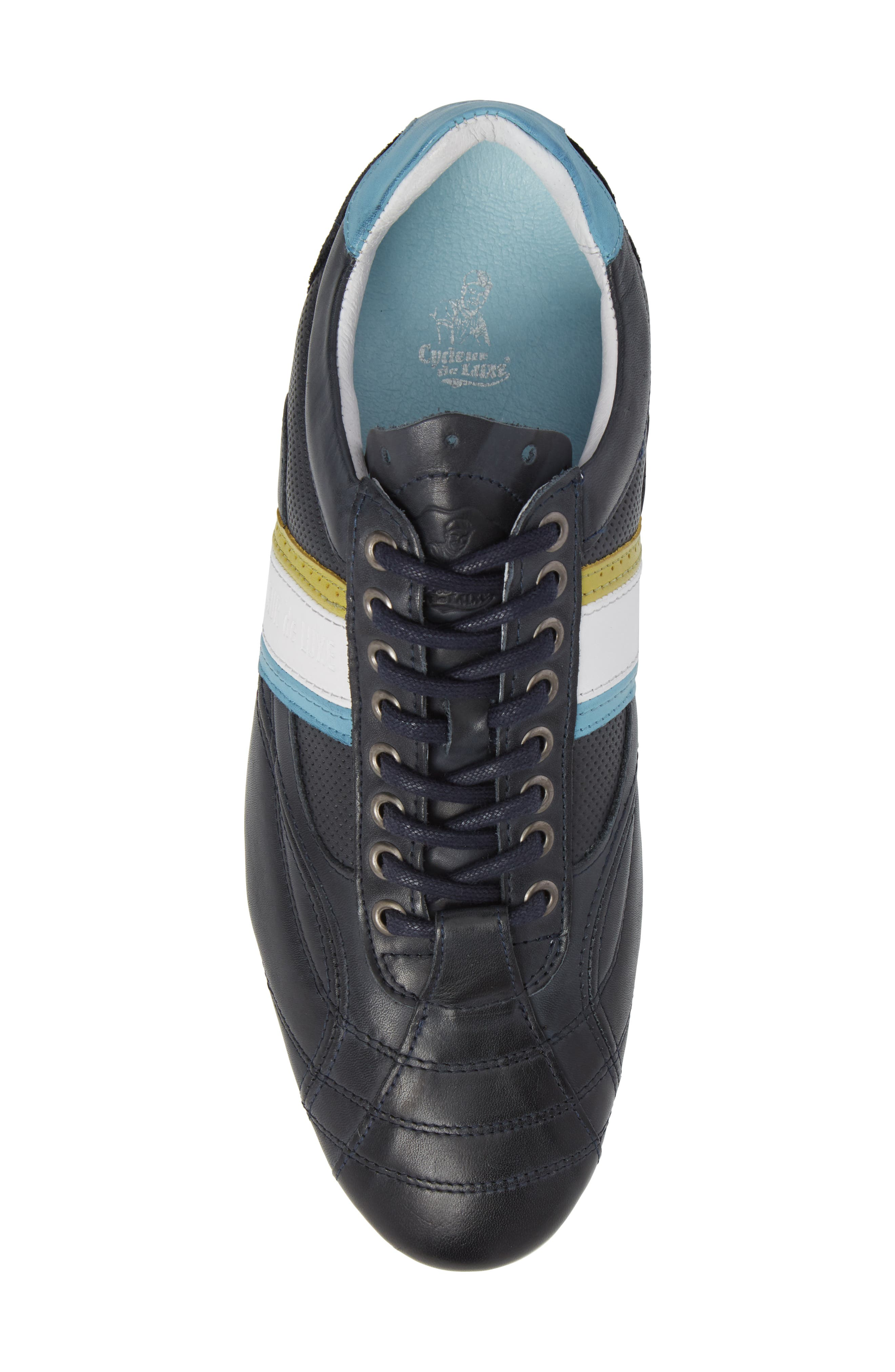 Crush City Low Top Sneaker,                             Alternate thumbnail 5, color,                             NAVY LEATHER