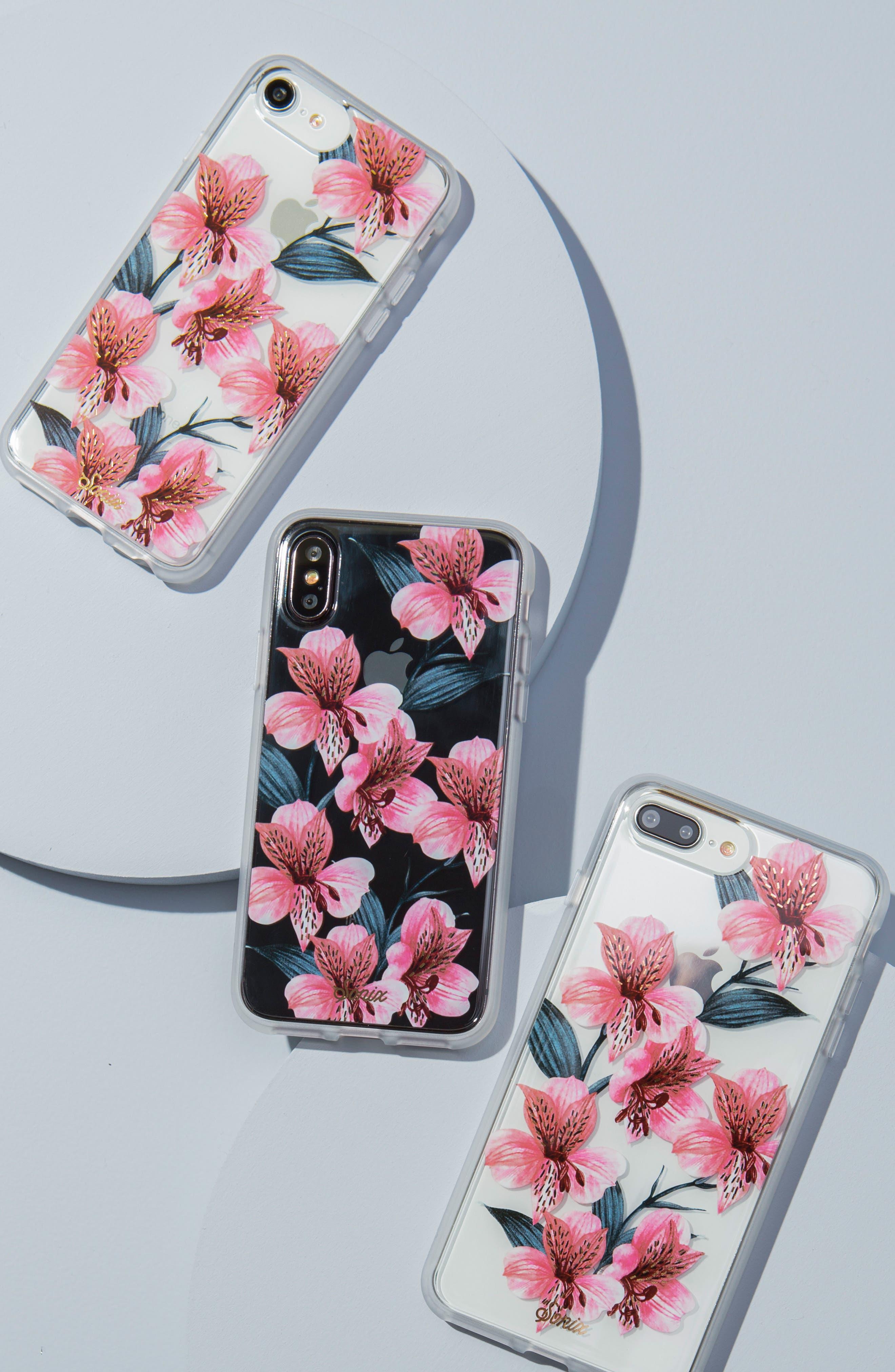 Tiger Lily iPhone 6/6s/7/8 & 6/6s/7/8 Plus Case,                             Alternate thumbnail 3, color,                             650