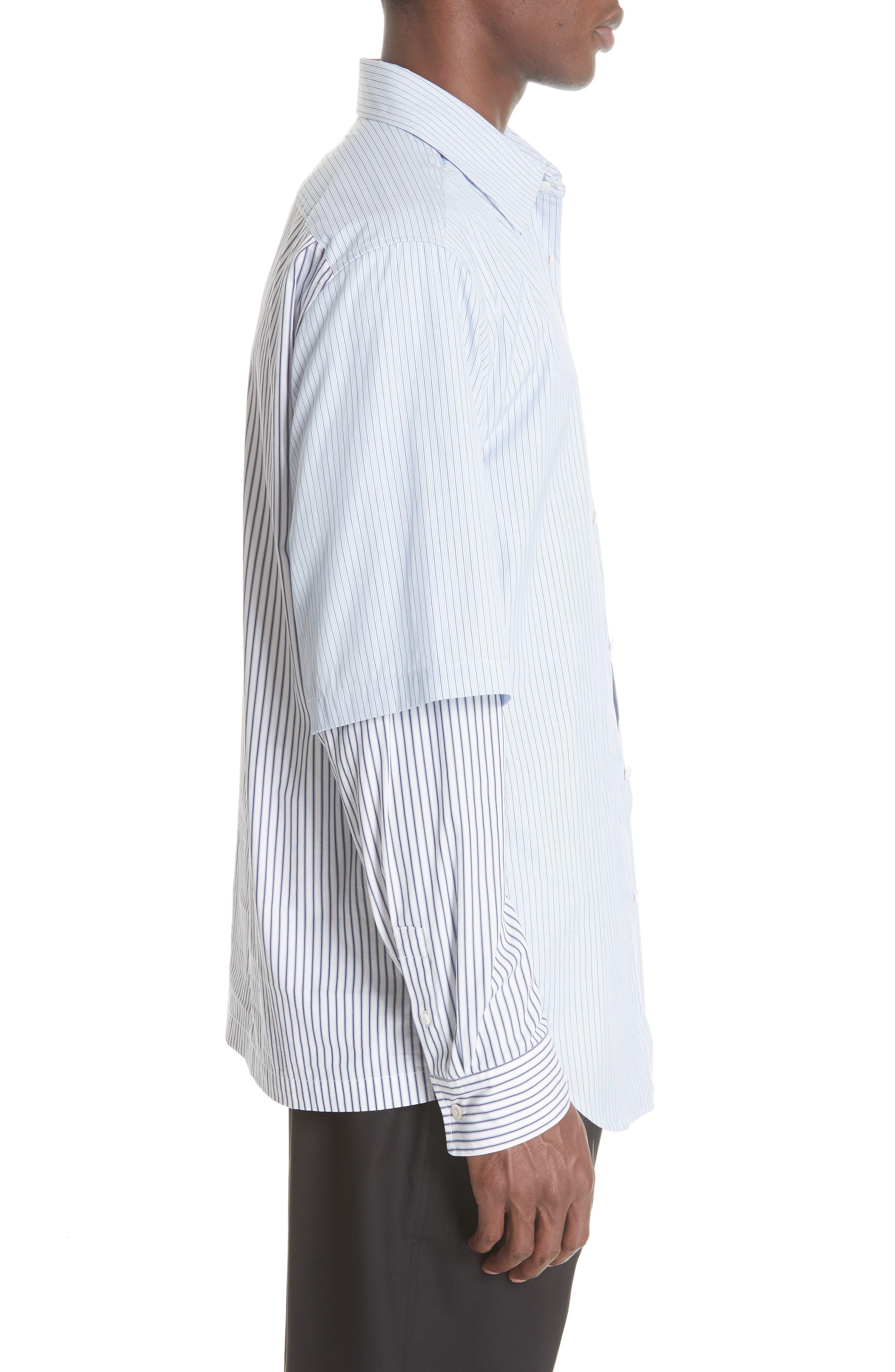Double Layer Woven Shirt,                             Alternate thumbnail 4, color,                             WHITE