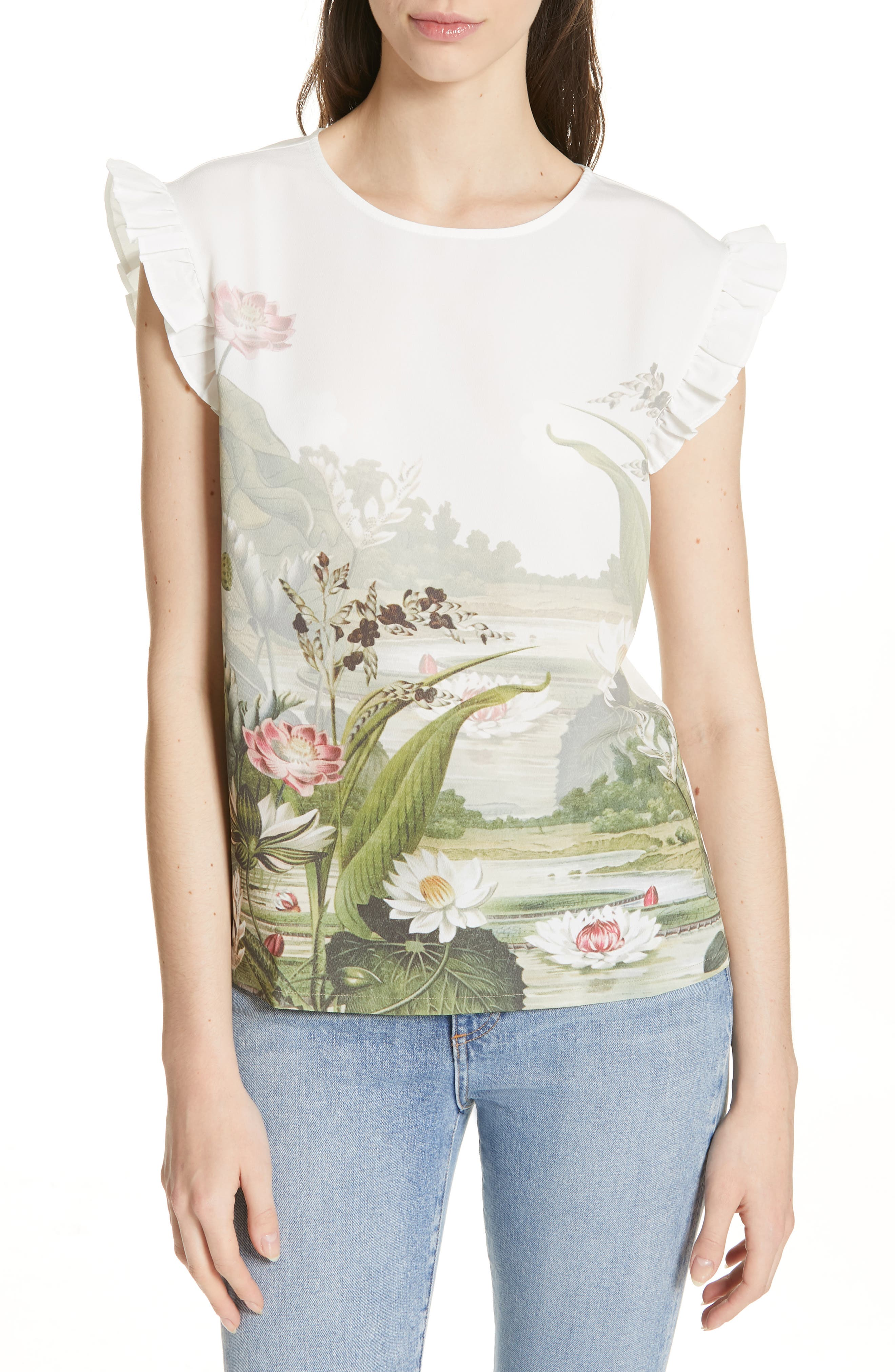 Coorai Wonderland Woven Front Top in Ivory