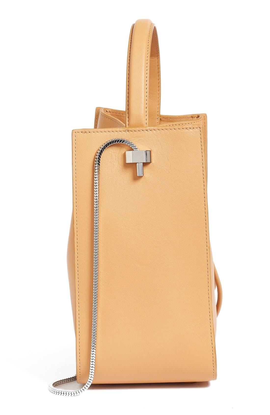 Mini Soleil Leather Bucket Bag,                             Alternate thumbnail 6, color,                             249