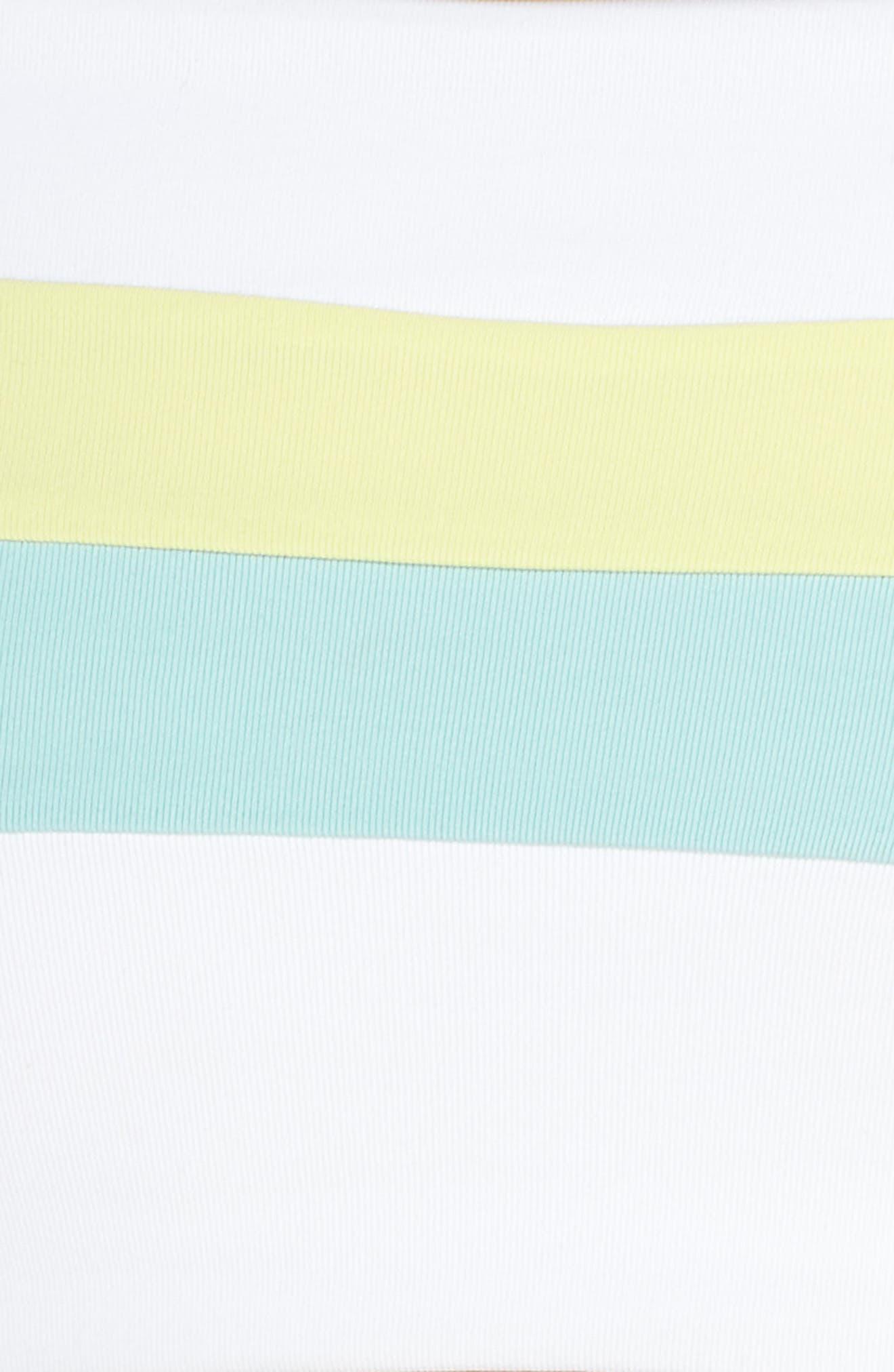 L SPACE,                             Rebel Bikini Top,                             Alternate thumbnail 6, color,                             WHITE/ LIGHT TURQ/ LEMONADE