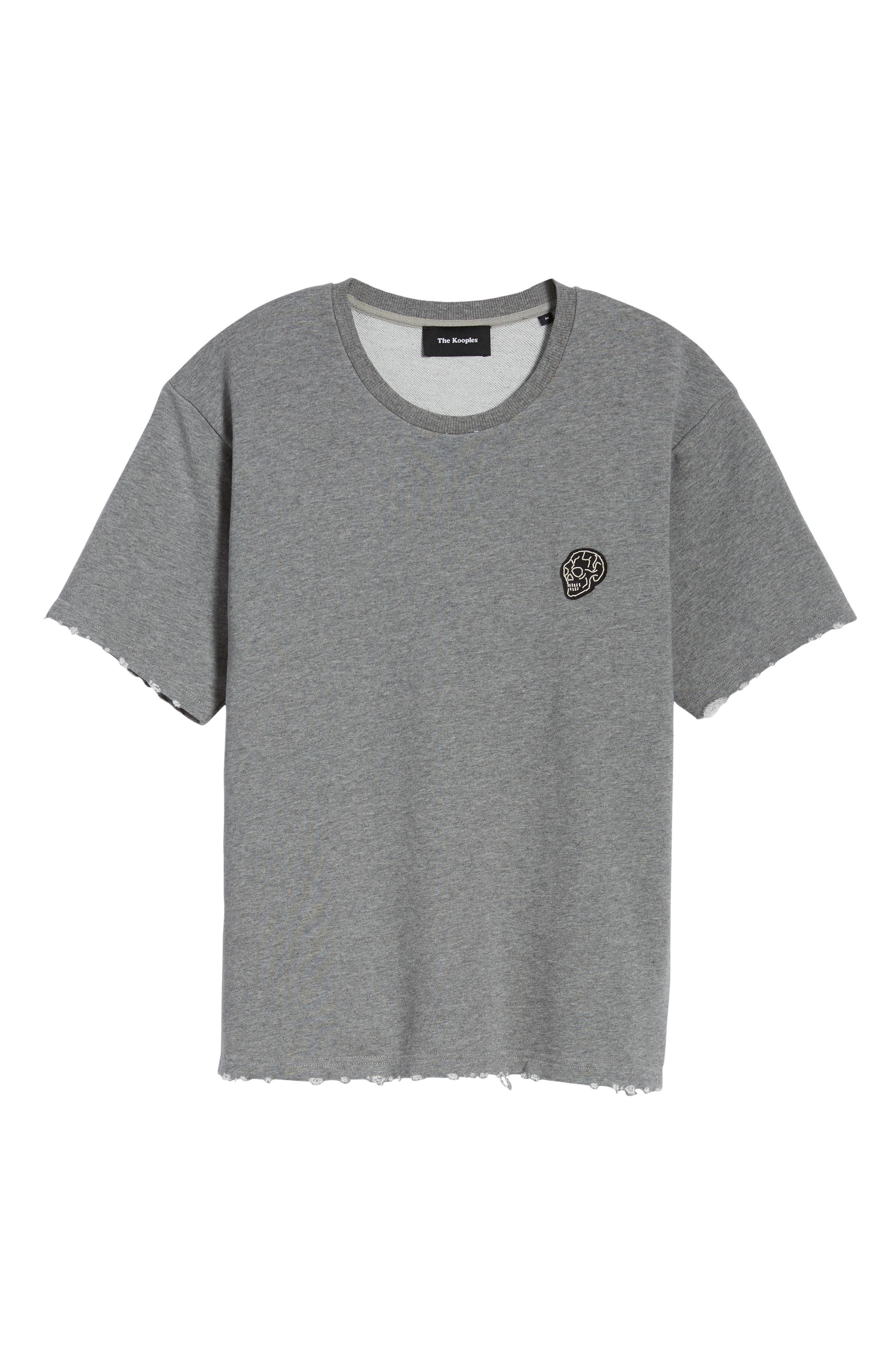 Classic Fit Short Sleeve Sweatshirt,                             Alternate thumbnail 6, color,                             020