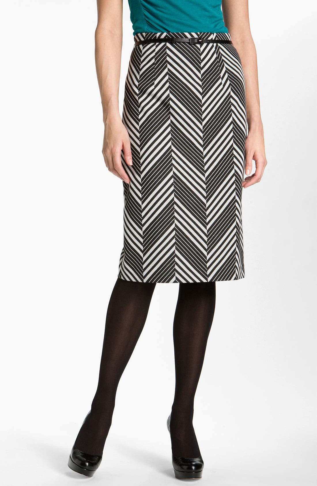 Belted Ponte Skirt,                             Main thumbnail 2, color,