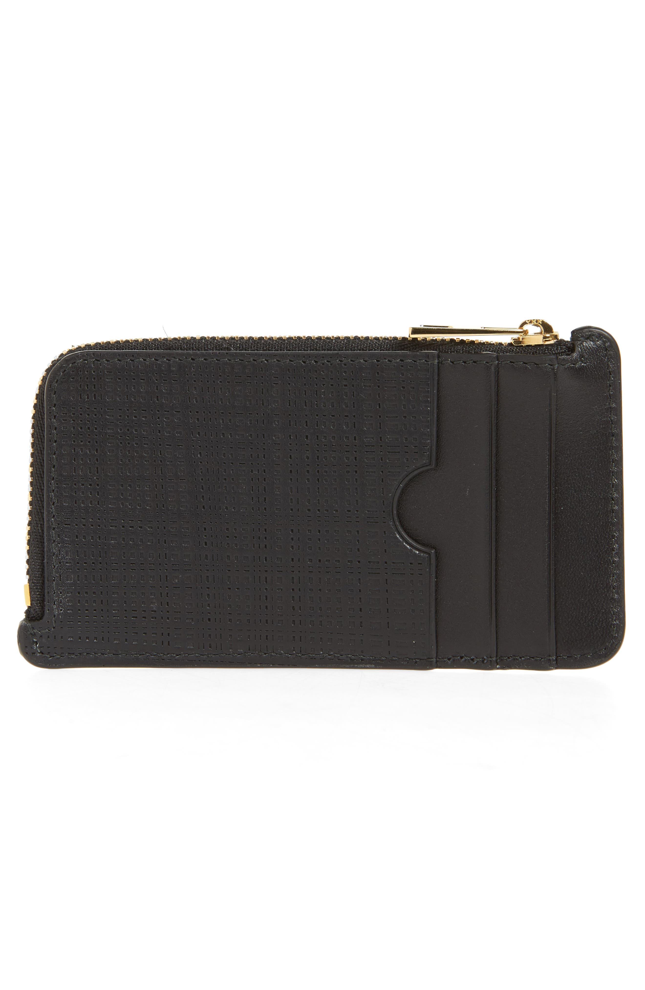 Calfskin Leather Zip Wallet,                             Alternate thumbnail 2, color,                             001