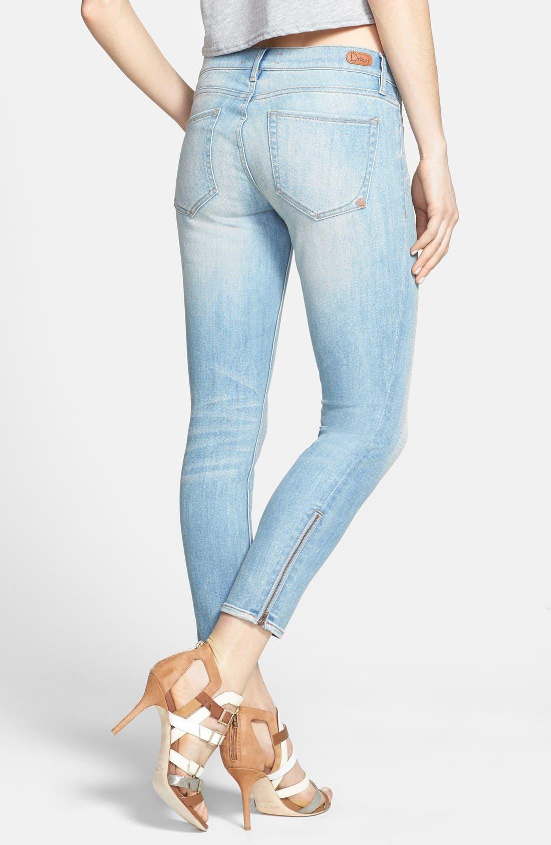 'Stevie' Crop Skinny Jeans,                             Alternate thumbnail 2, color,                             401