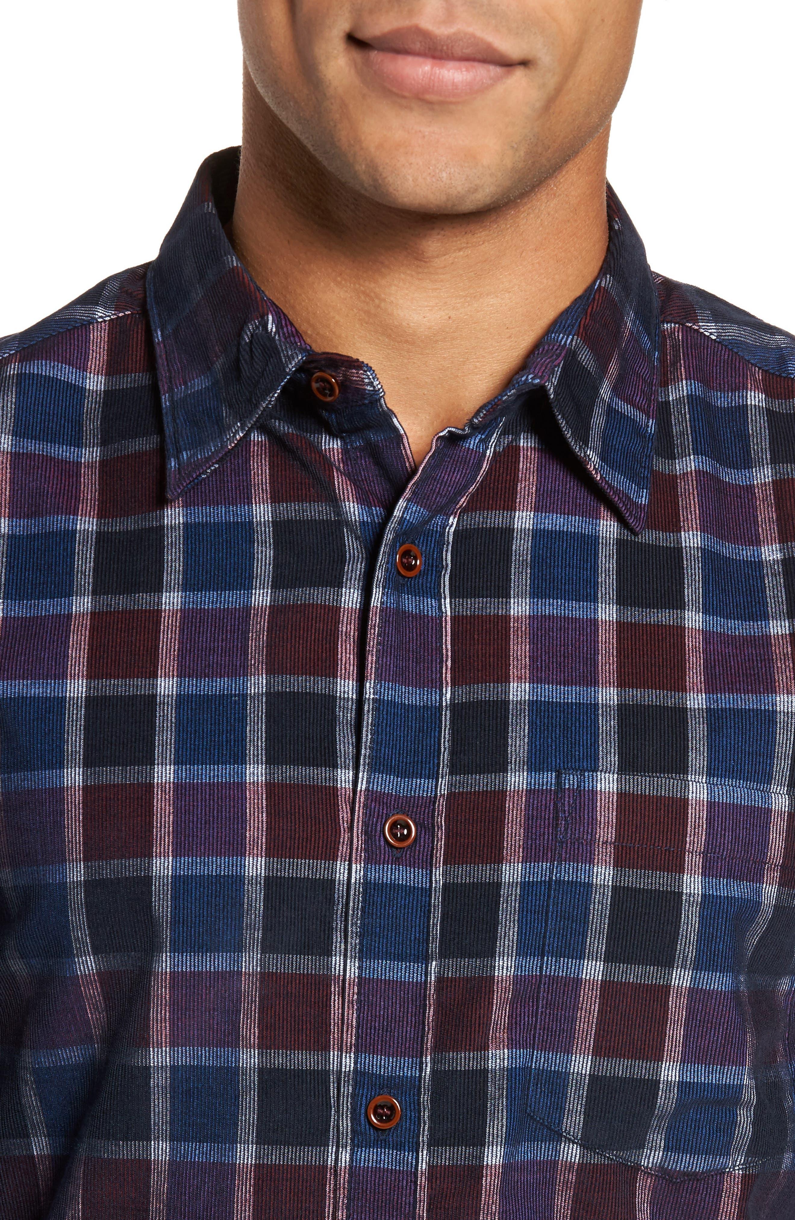 Plaid Corduroy Sport Shirt,                             Alternate thumbnail 8, color,