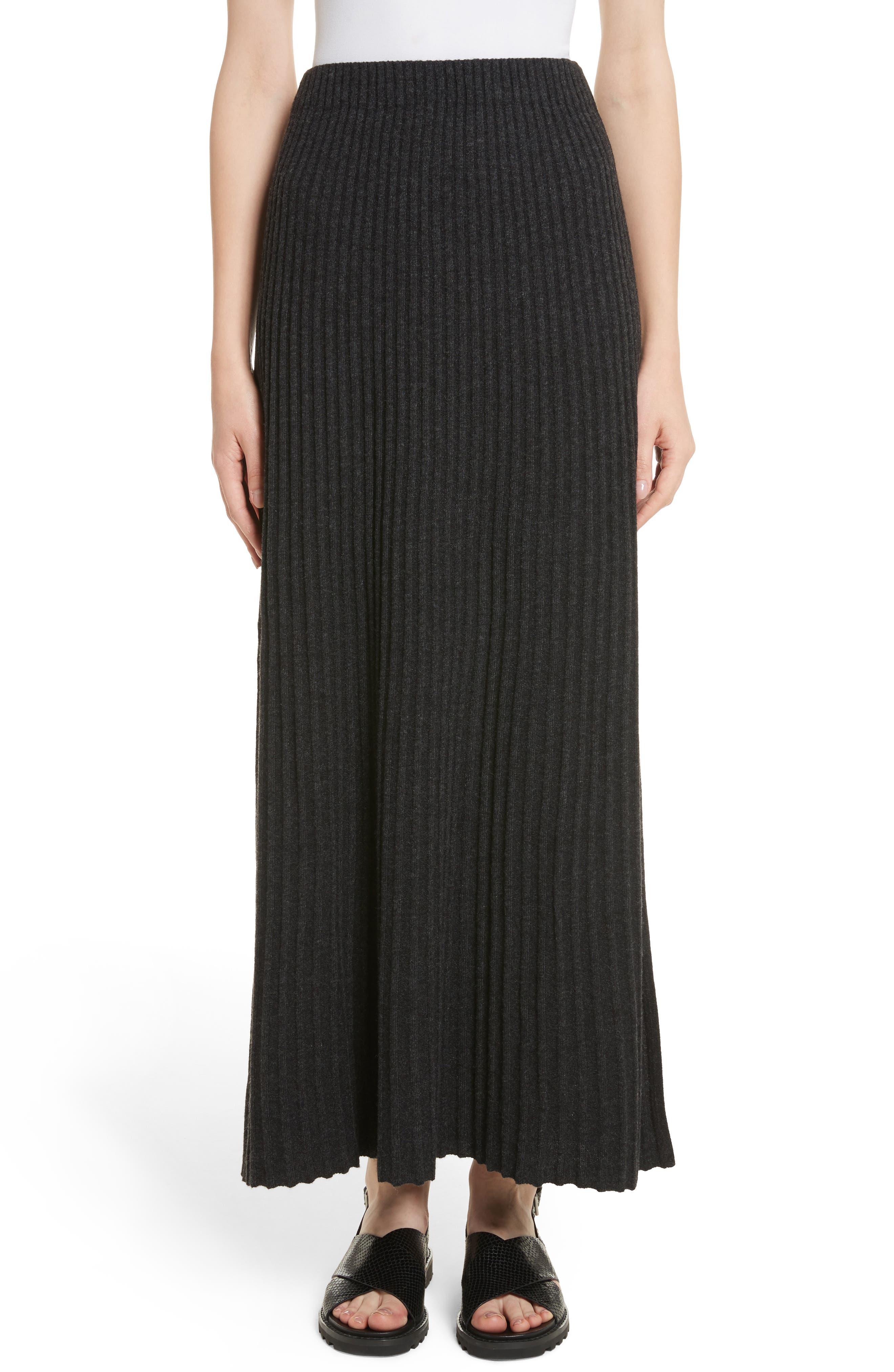 Joelle Rib Knit Maxi Skirt,                         Main,                         color, 020