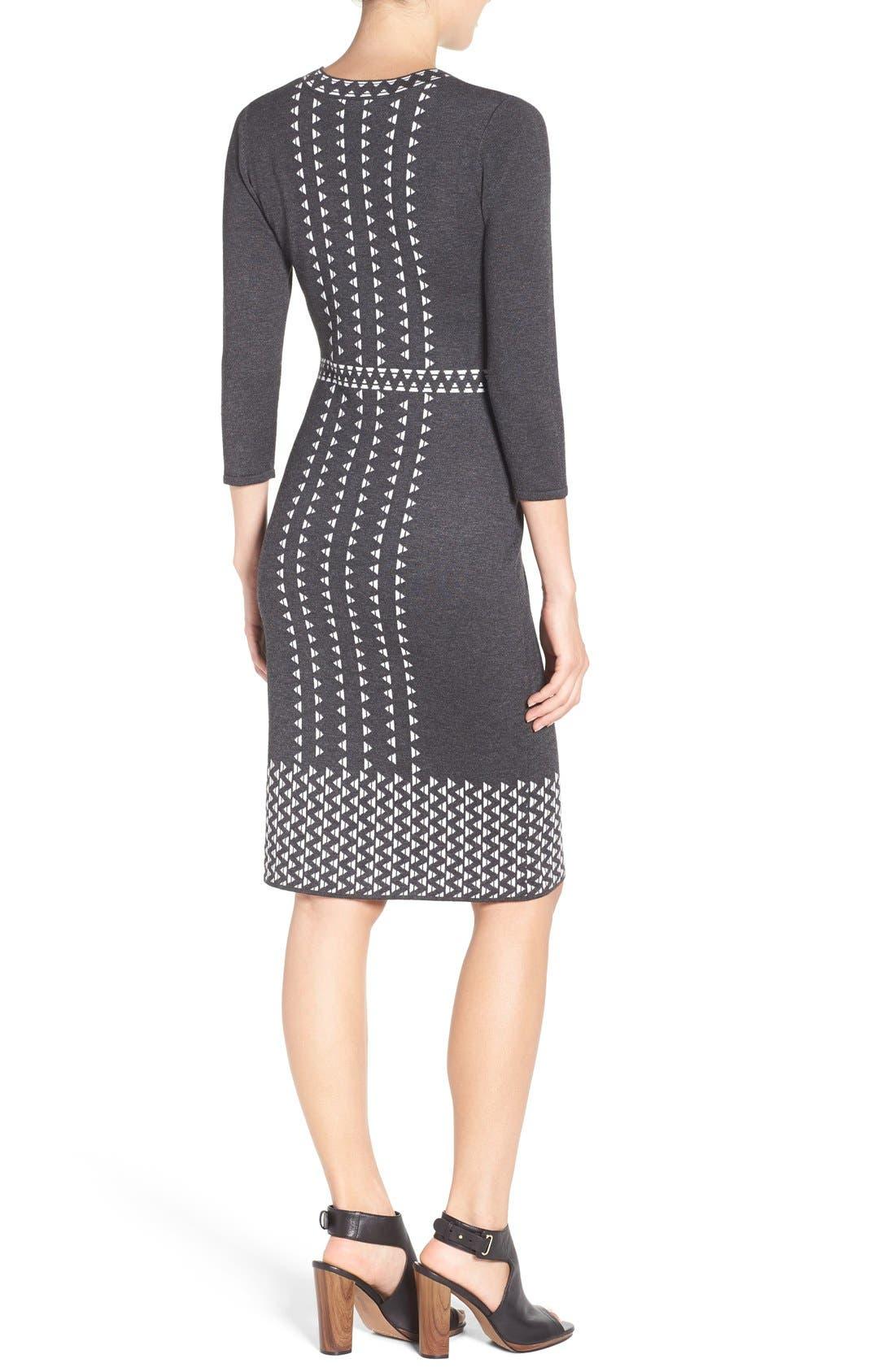 TAYLOR DRESSES,                             Sweater Sheath Dress,                             Alternate thumbnail 6, color,                             021