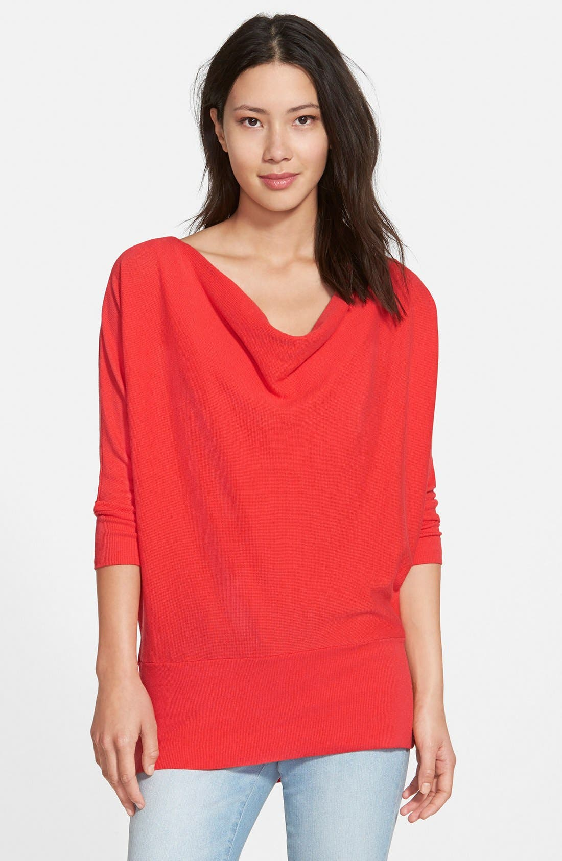 'Aidan' Drape Neck Thermal Top,                             Main thumbnail 7, color,