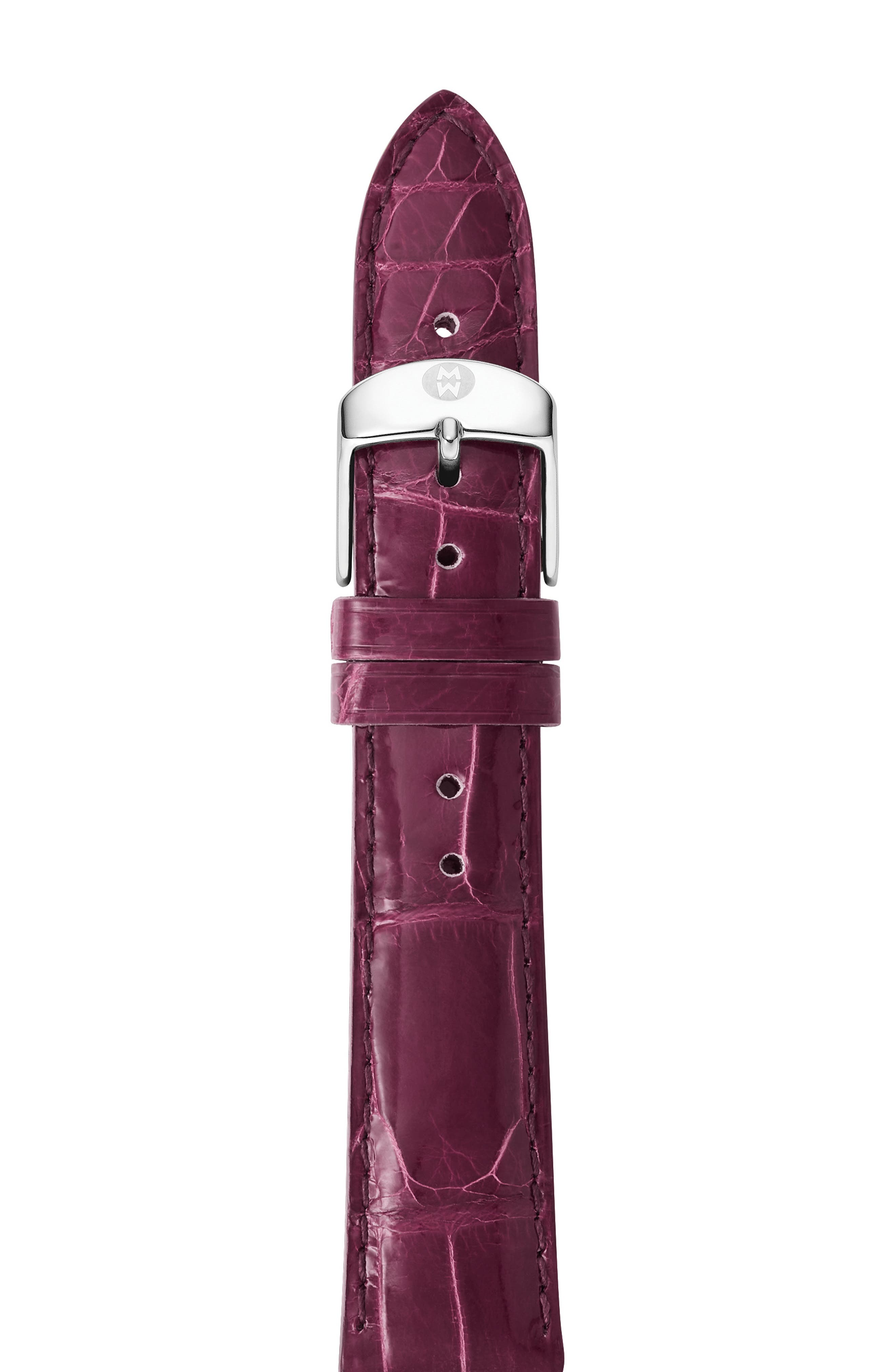 Csx Or Deco Collections Alligator Strap, 18Mm in Plum