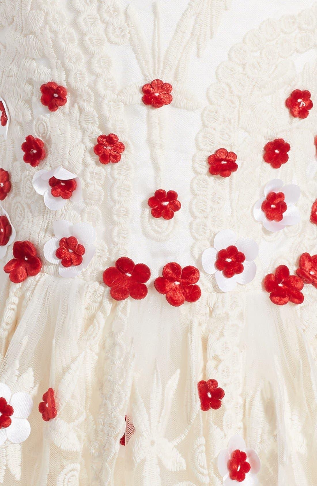 HALABALOO,                             Embroidered Flower Dress,                             Alternate thumbnail 2, color,                             900