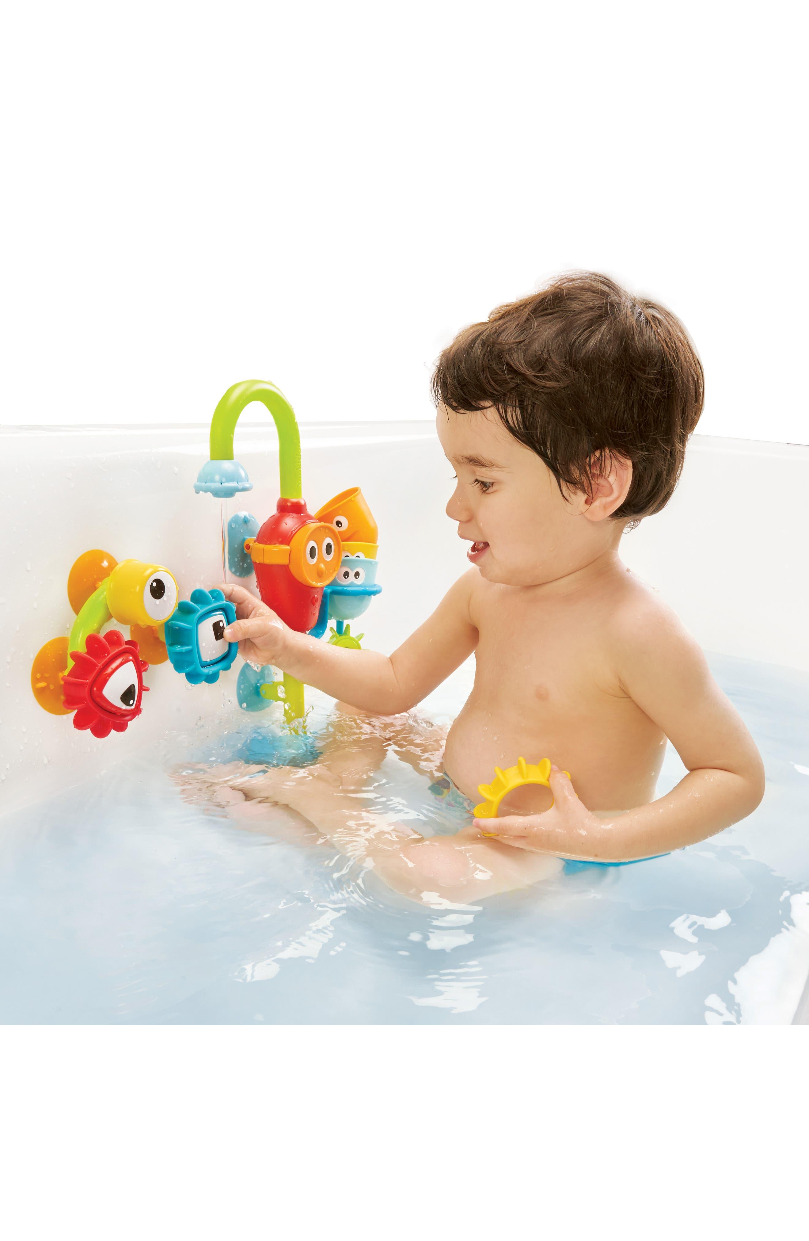 Spin 'N' Sort Spout Pro Bath Toy,                             Alternate thumbnail 2, color,                             GREEN