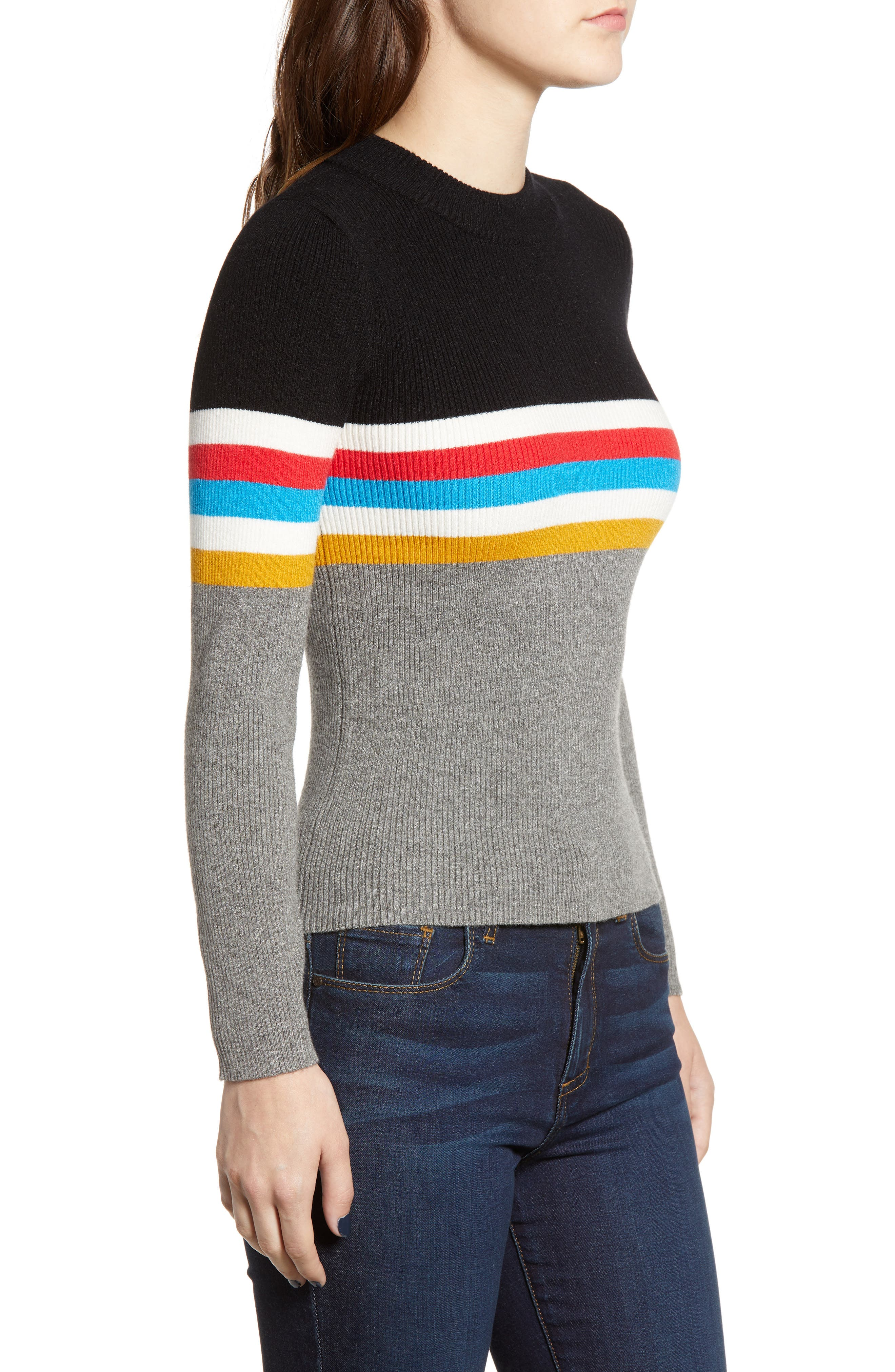 Stripe Sweater,                             Alternate thumbnail 3, color,                             038