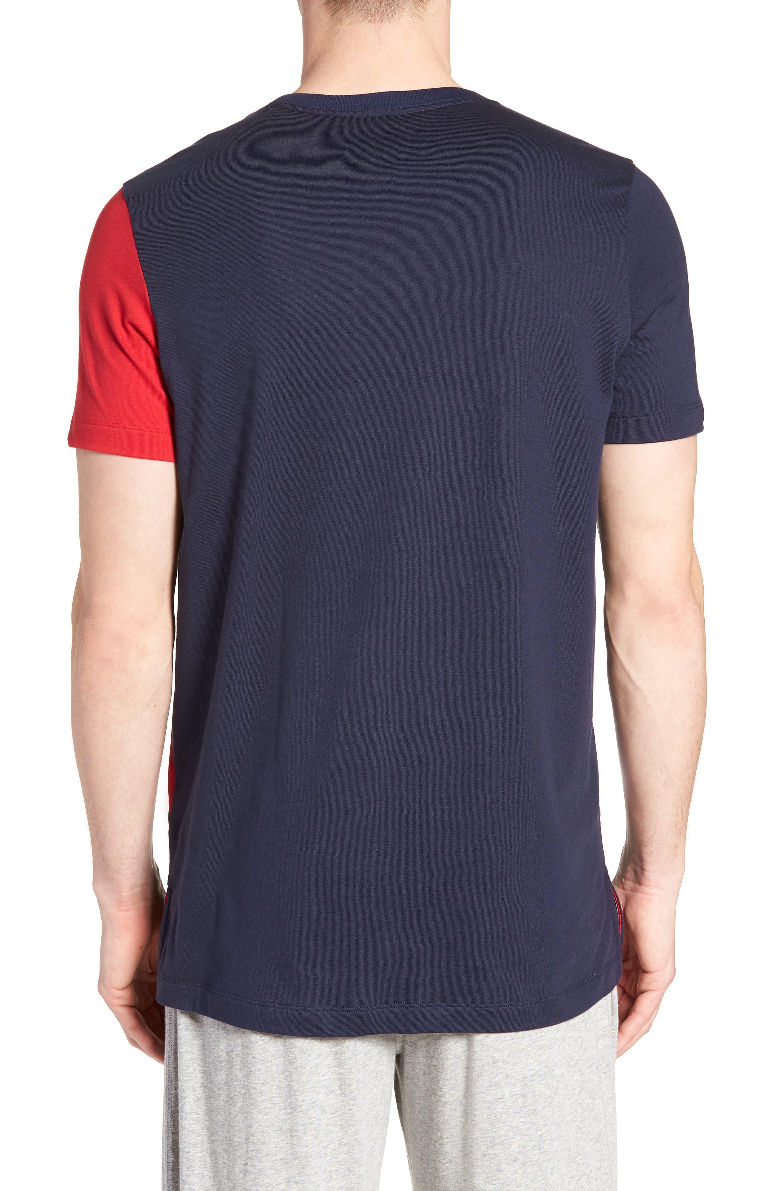 Colorblock T-Shirt,                             Alternate thumbnail 2, color,                             DARK NAVY