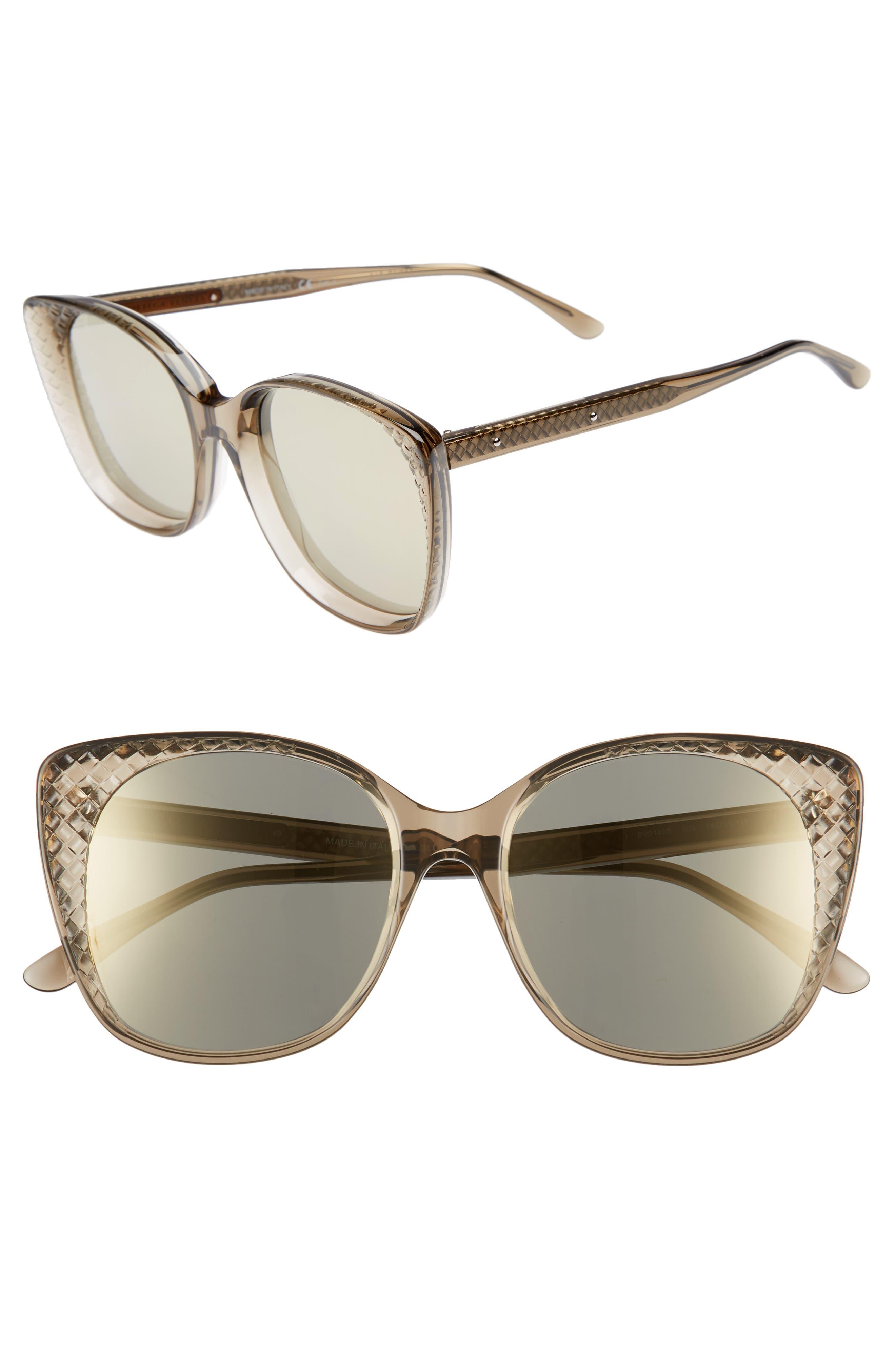 54mm Sunglasses,                         Main,                         color, BROWN