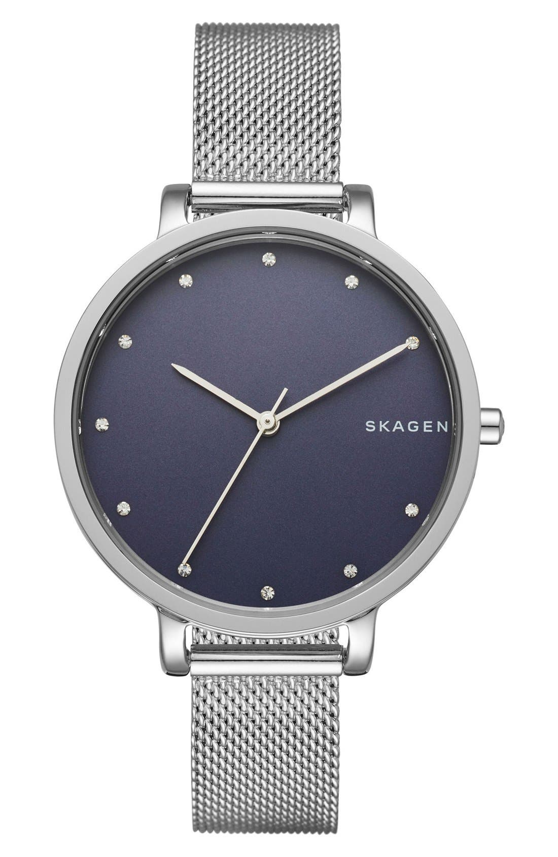 Hagen Round Mesh Strap Watch, 34mm,                             Main thumbnail 1, color,                             040