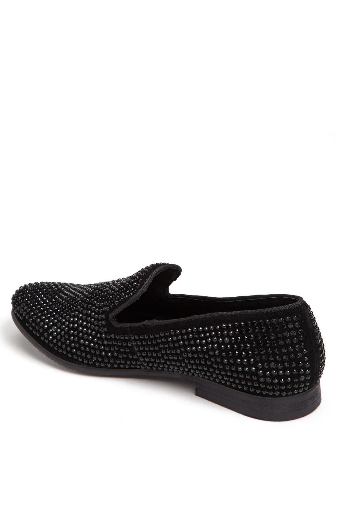 'Caviarr' Slip-On,                             Alternate thumbnail 3, color,                             BLACK RHINESTONES