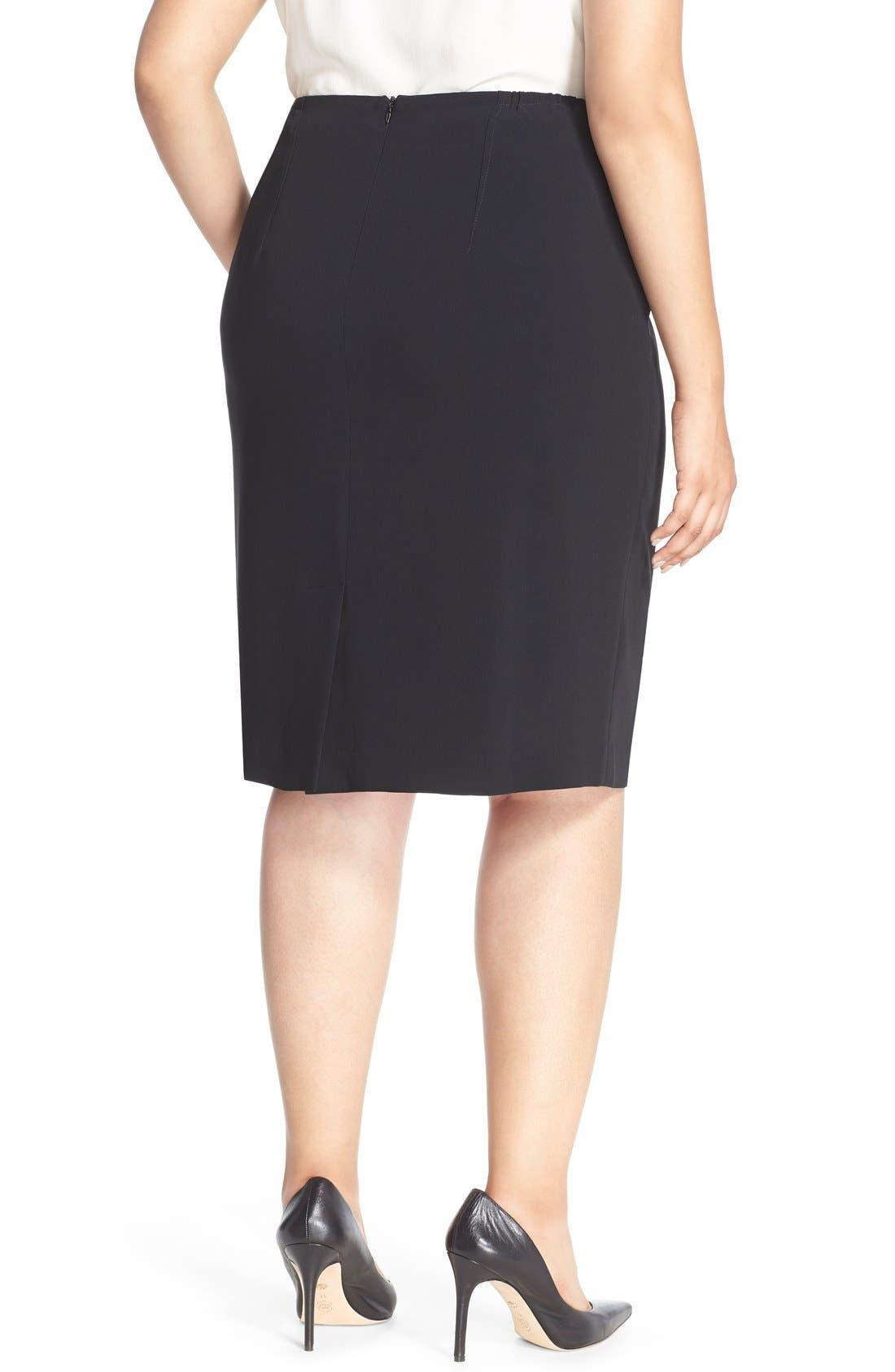 LOUBEN,                             Suit Pencil Skirt,                             Alternate thumbnail 2, color,                             BLACK
