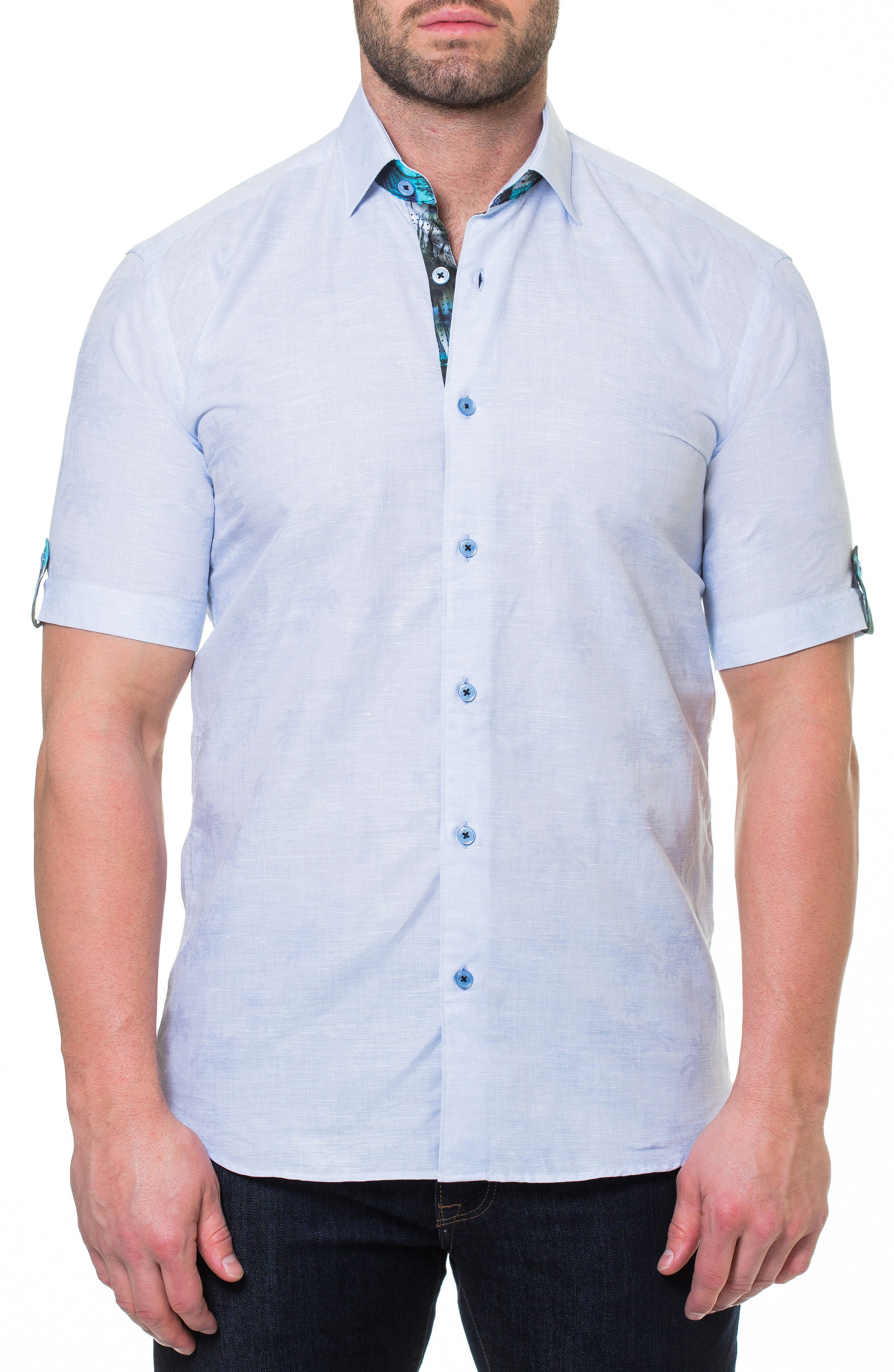 Fresh Palm Sport Shirt,                         Main,                         color, 420