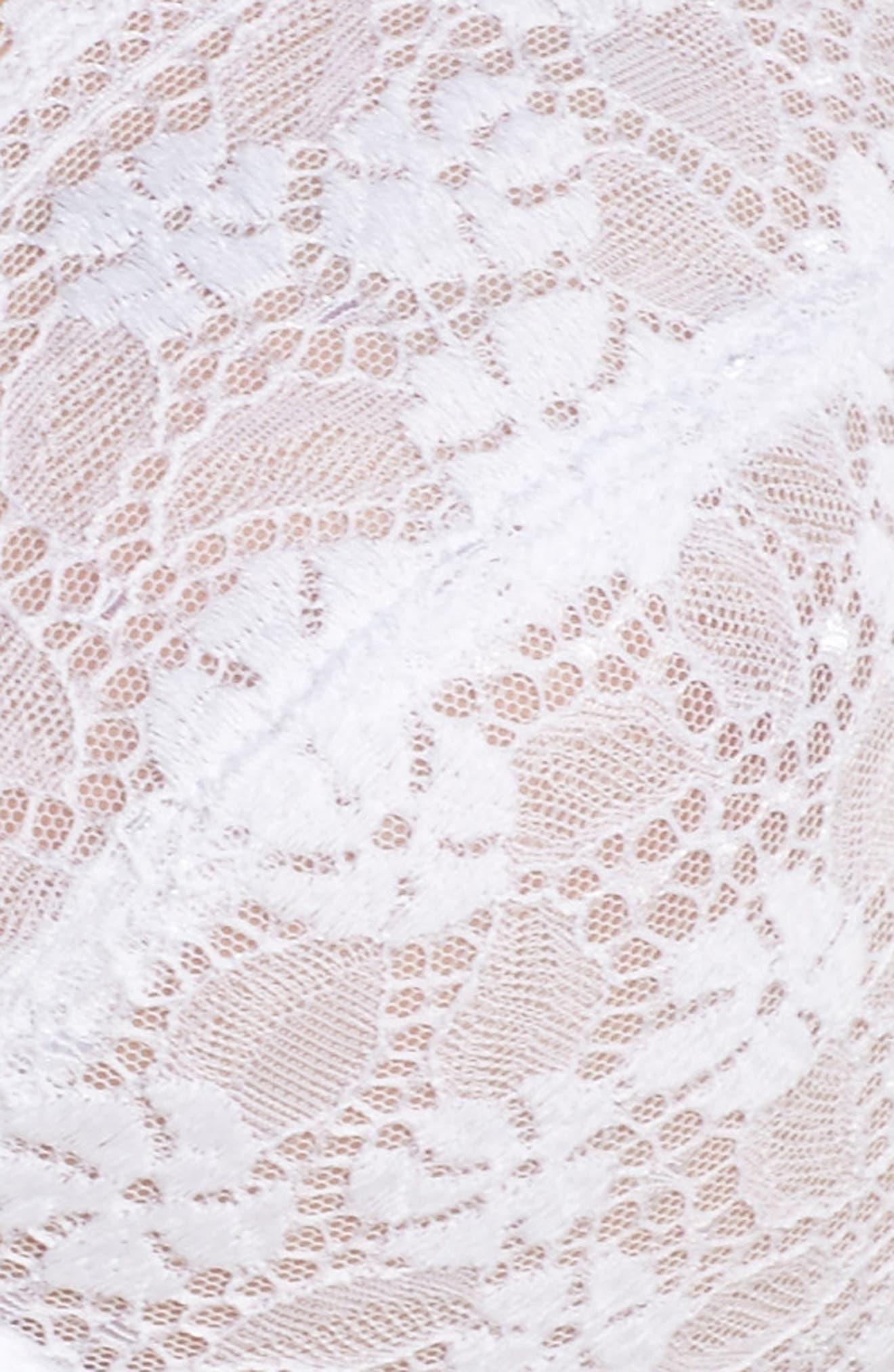 Batignolles Lace Underwire Bra,                             Alternate thumbnail 6, color,                             100