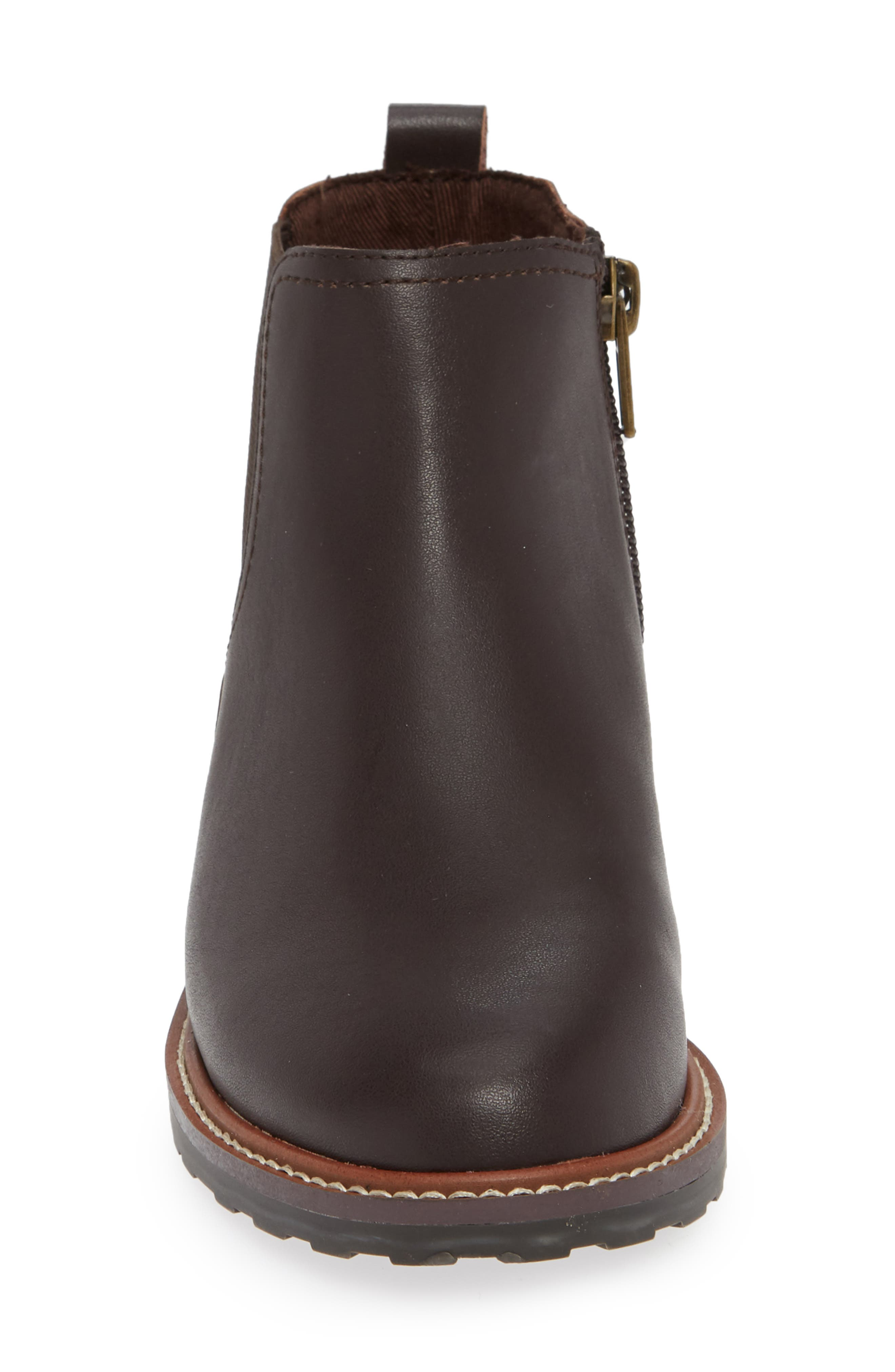 Chelsea Boot,                             Alternate thumbnail 4, color,                             CHOCOLATE OILED LEATHER