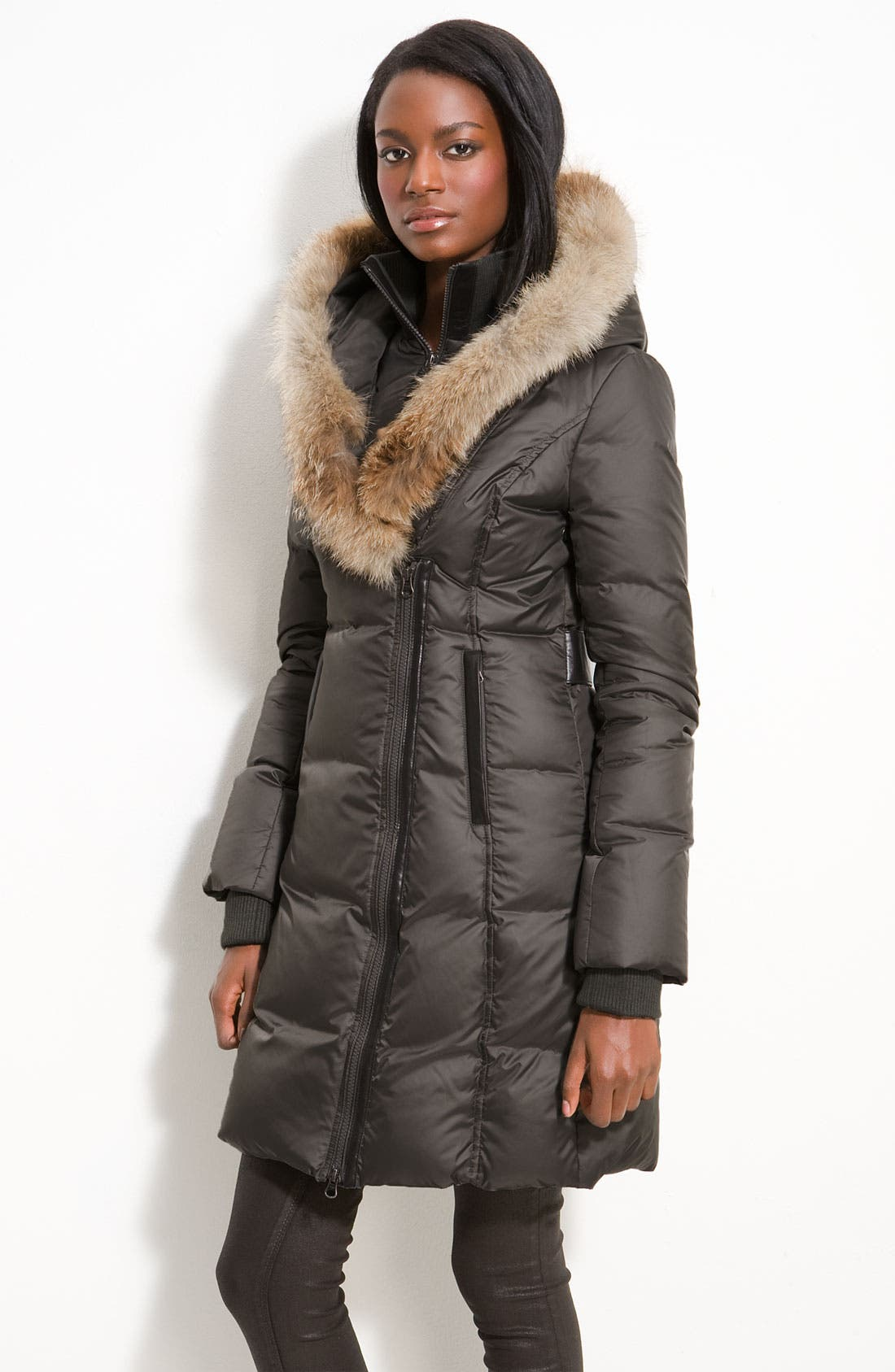 Down Puffer with Coyote Fur Trim,                             Main thumbnail 2, color,
