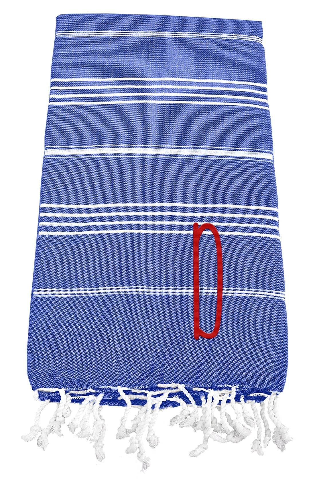 Monogram Turkish Cotton Towel,                             Main thumbnail 60, color,