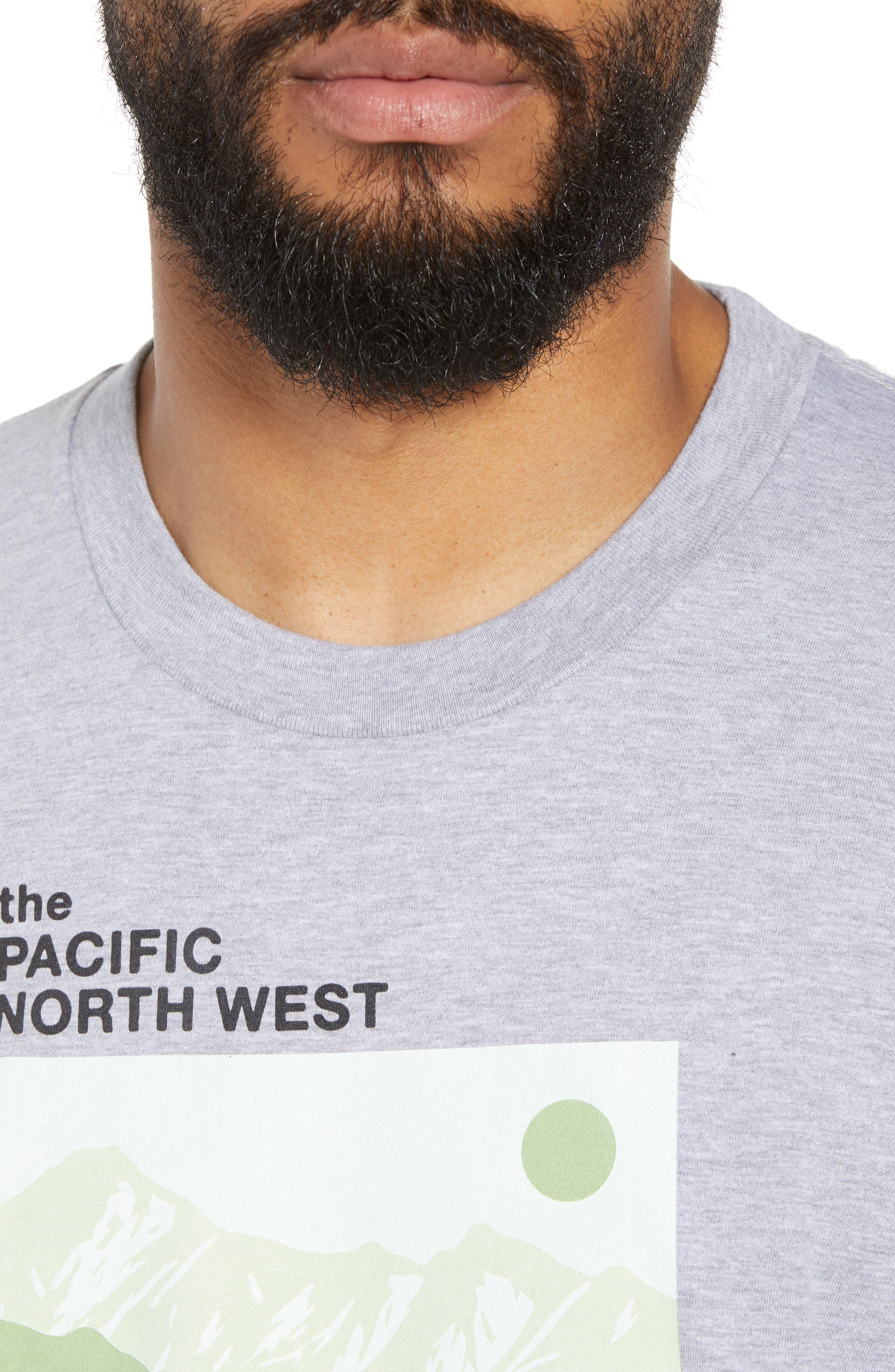 PNW Mountains Graphic T-Shirt,                             Alternate thumbnail 4, color,                             020