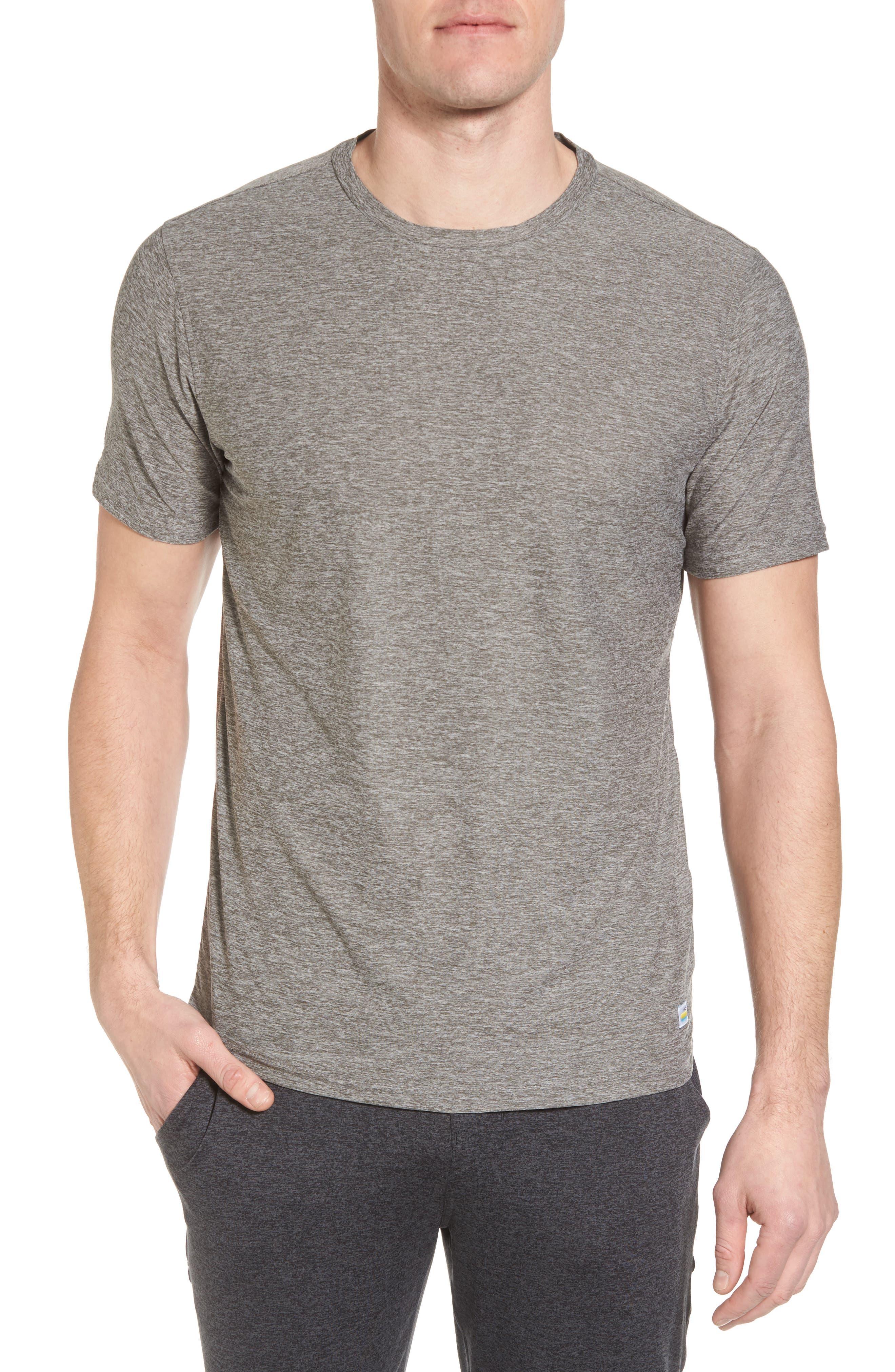 Vuori Strato Slim Fit Crewneck T-Shirt, Grey