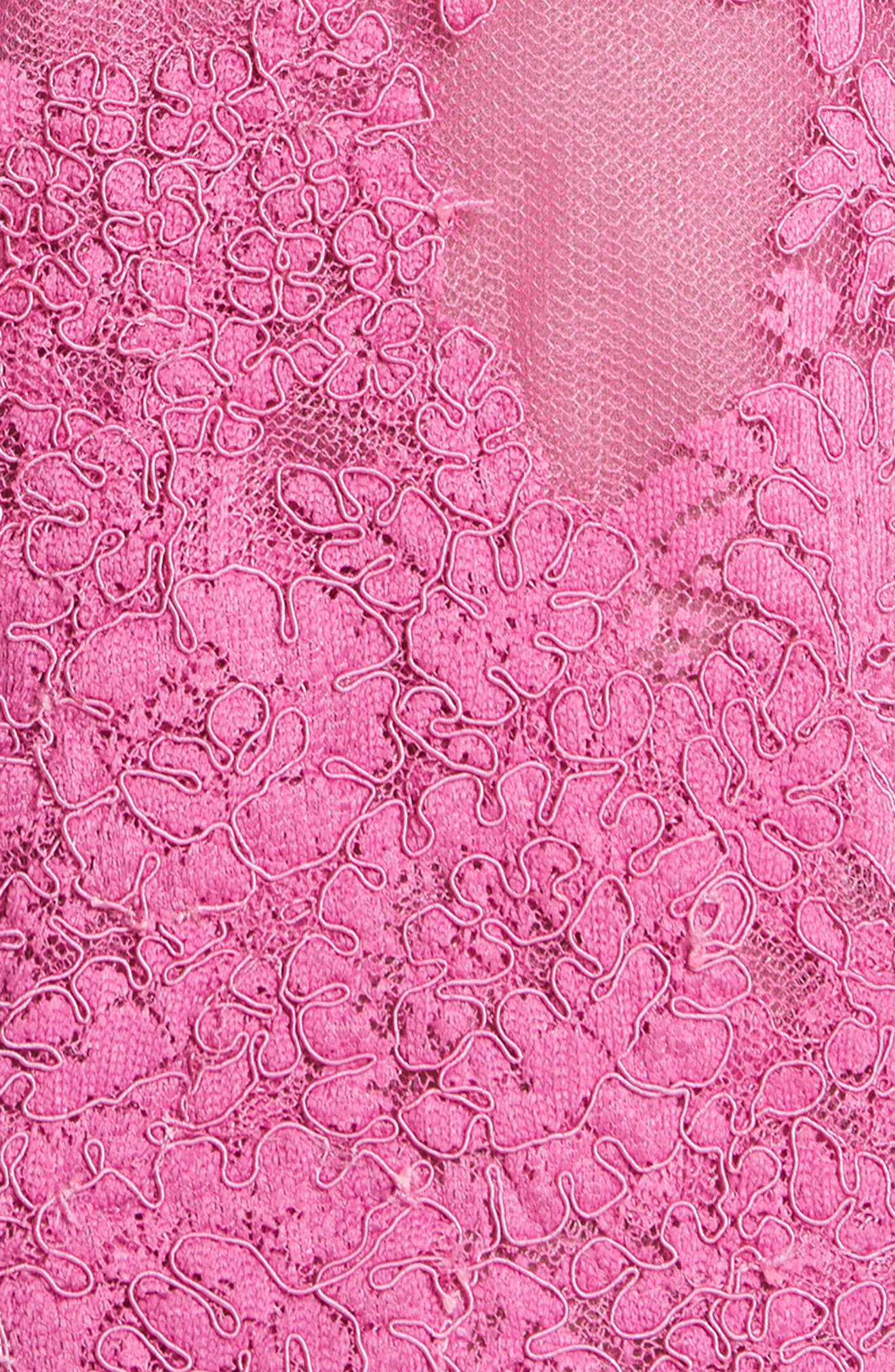 Off the Shoulder Illusion Ruffle Sleeve Lace Dress,                             Alternate thumbnail 5, color,                             950