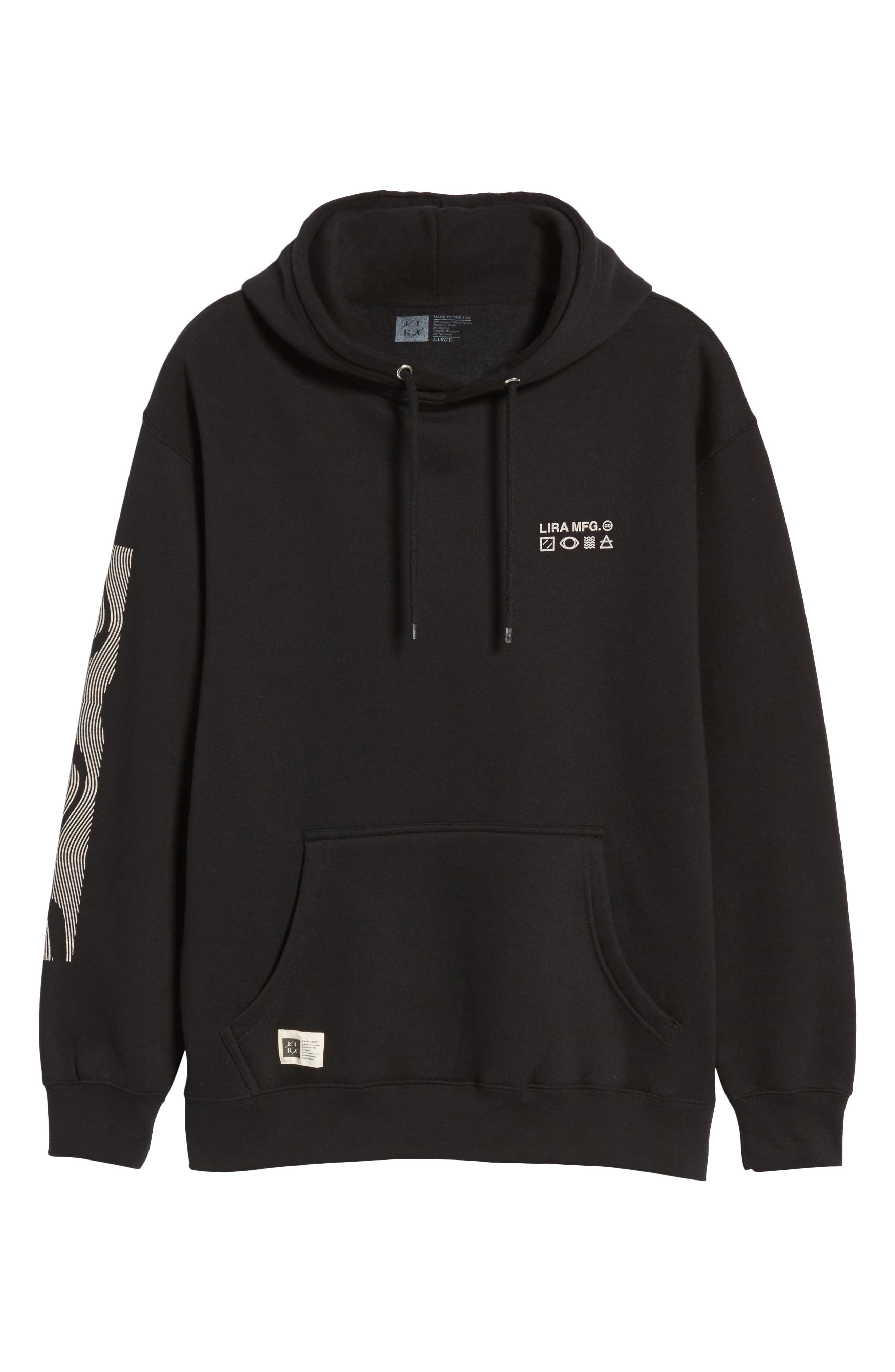 Coil Graphic Hoodie,                             Alternate thumbnail 6, color,                             001