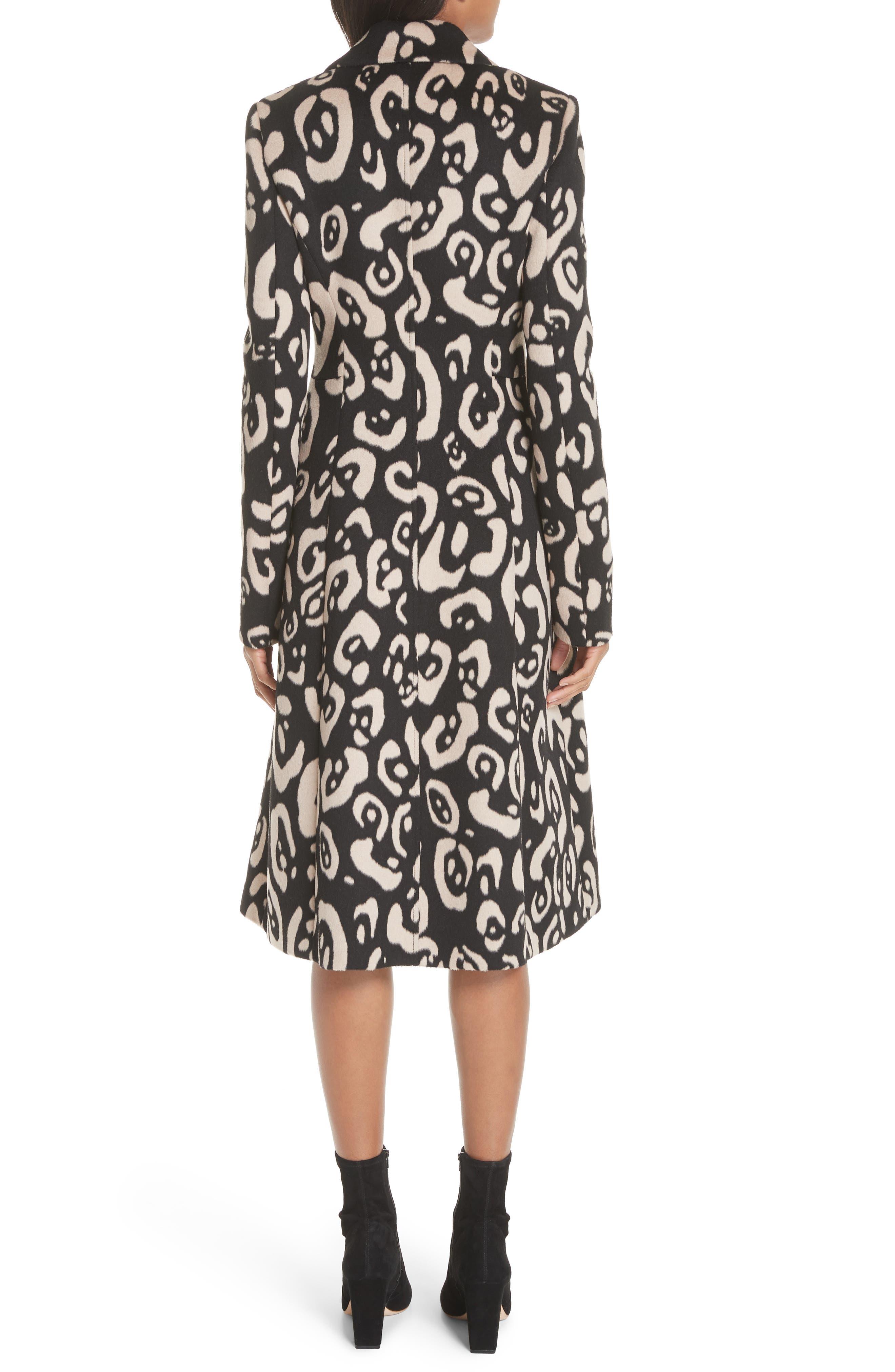 Driss Leopard Print Wool Blend Coat, Main, color, 001