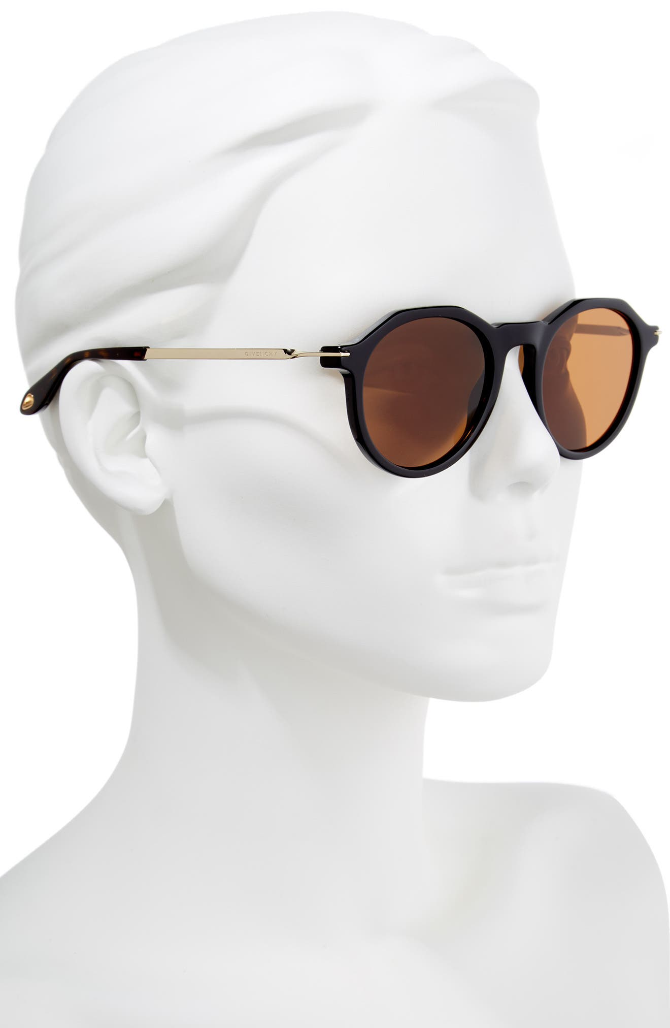 51mm Round Sunglasses,                             Alternate thumbnail 4, color,