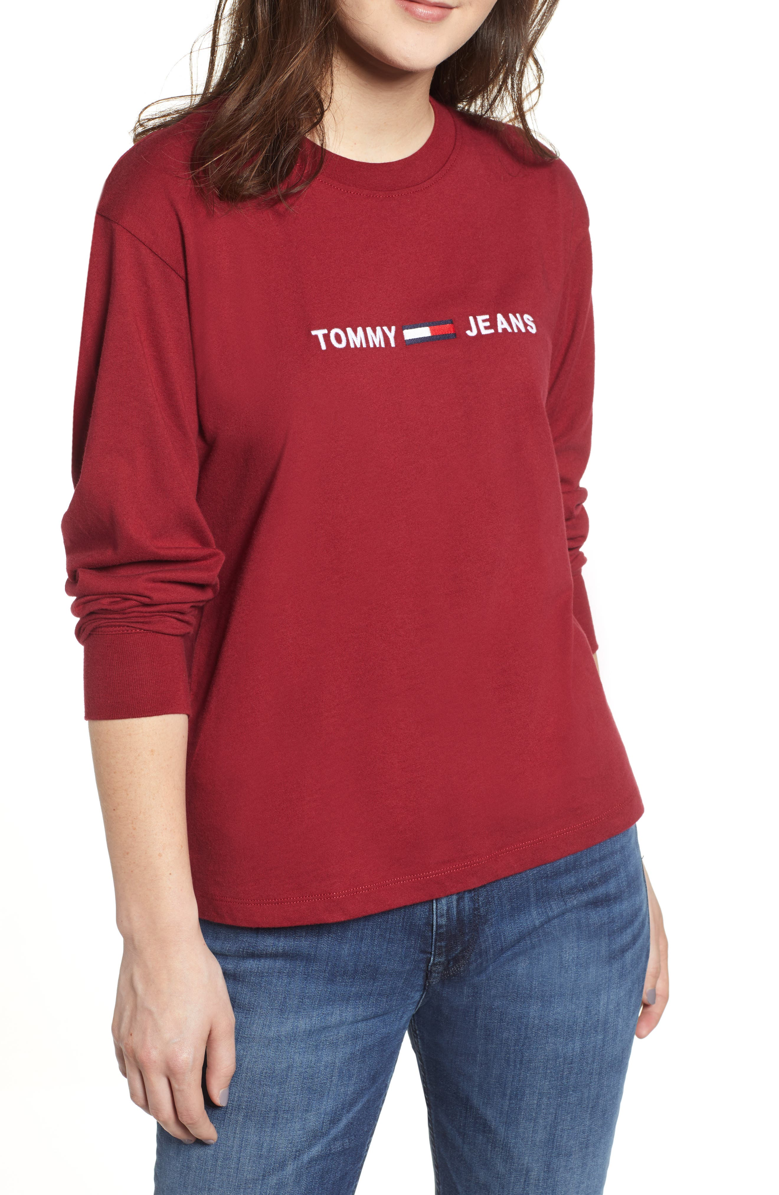 TJW Embroidered Logo Tee,                             Main thumbnail 1, color,                             SURF THE WEB