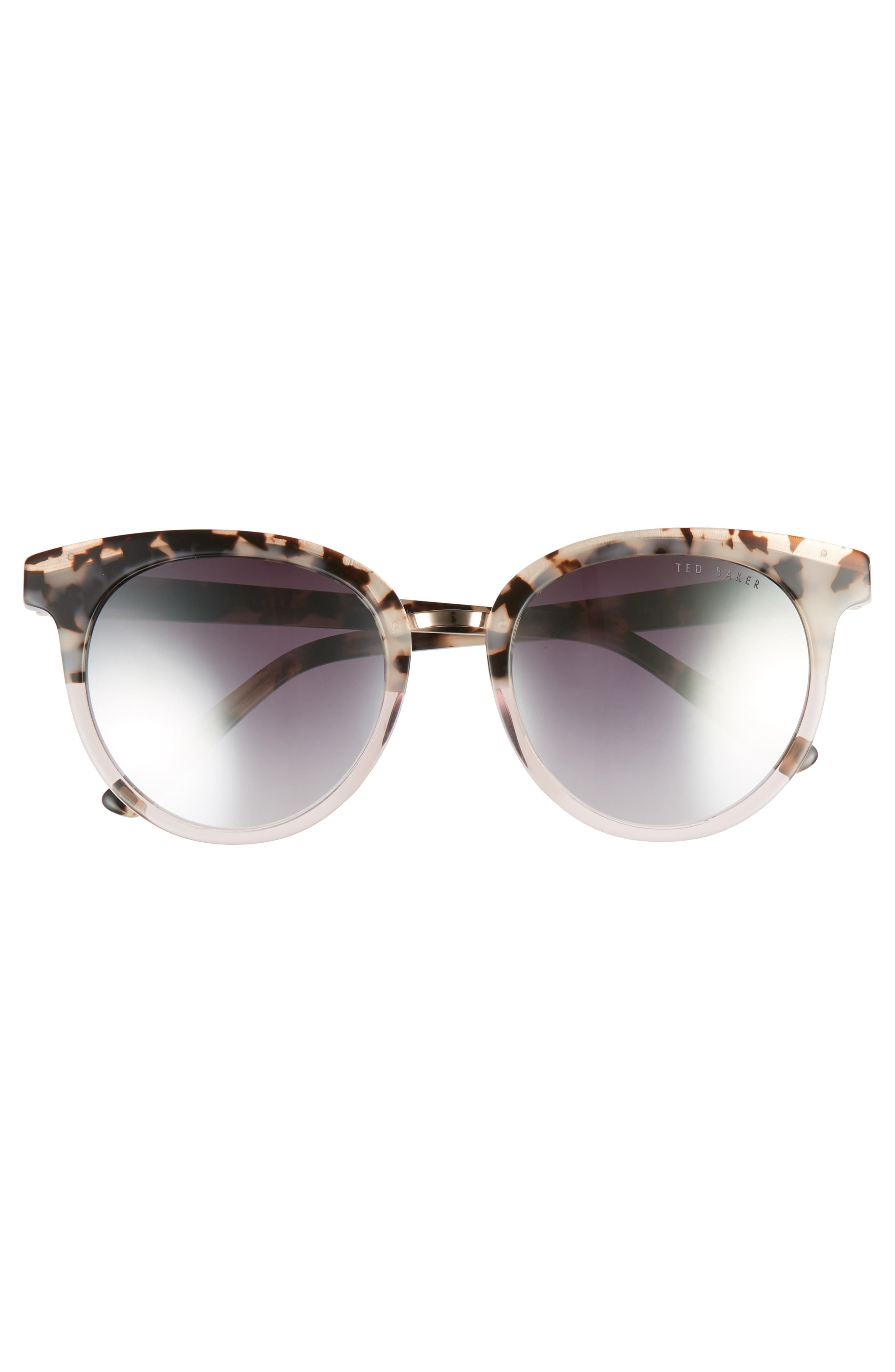 52mm Round Sunglasses,                             Alternate thumbnail 3, color,                             IVORY